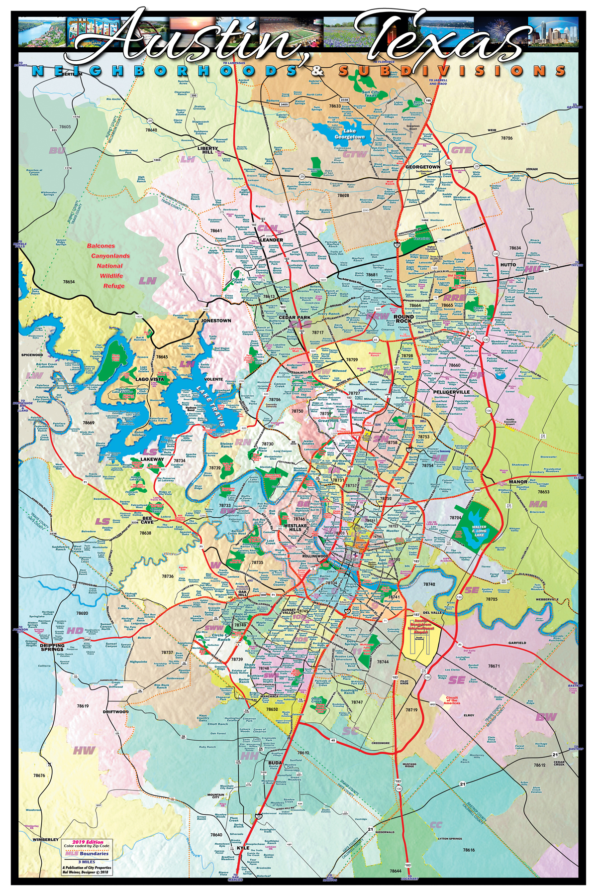 Austin Subdivision Map - Over 800 Neighborhoods And Subdivisions - Austin Texas City Map