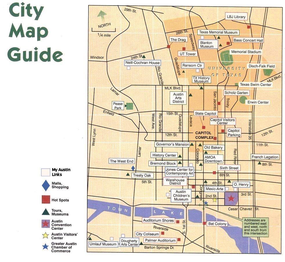 Austin Texas City Map Guide - Austin Tx Map Of Texas