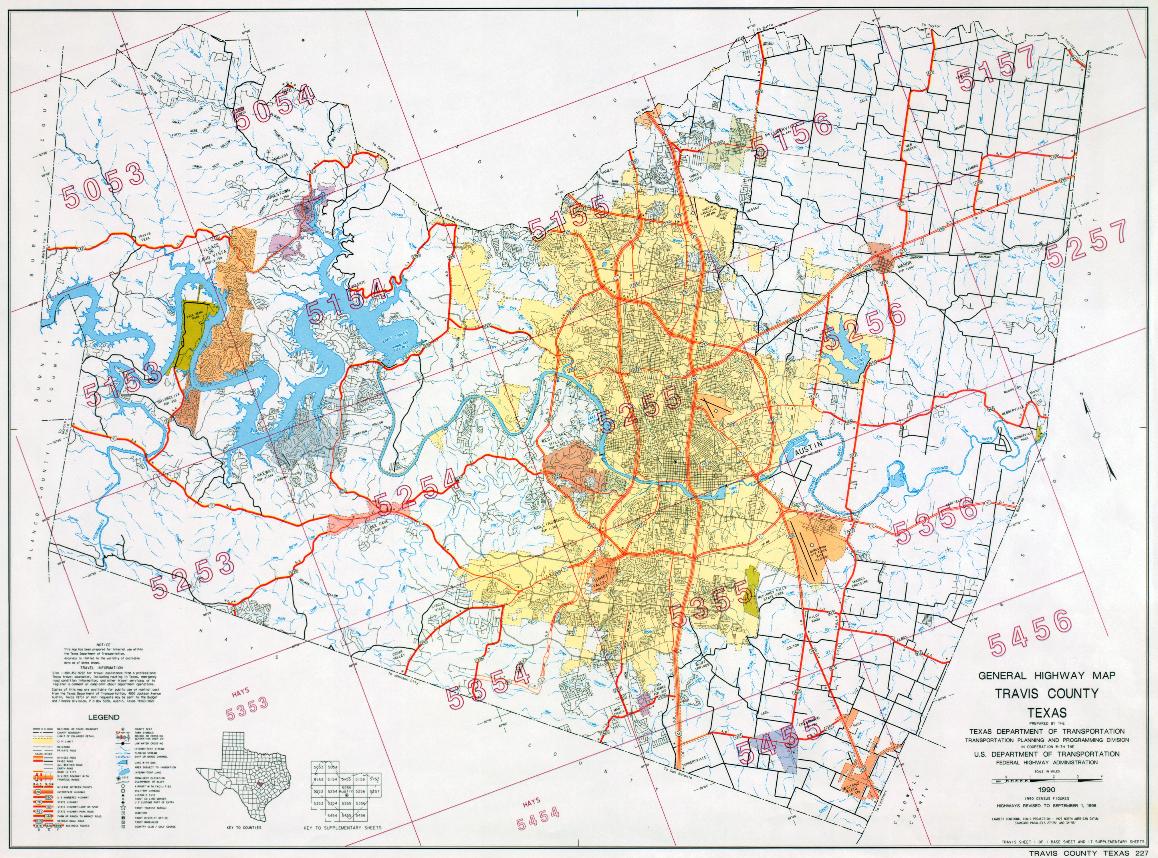 Austin, Texas Maps - Perry-Castañeda Map Collection - Ut Library Online - I 35 Central Texas Traffic Map