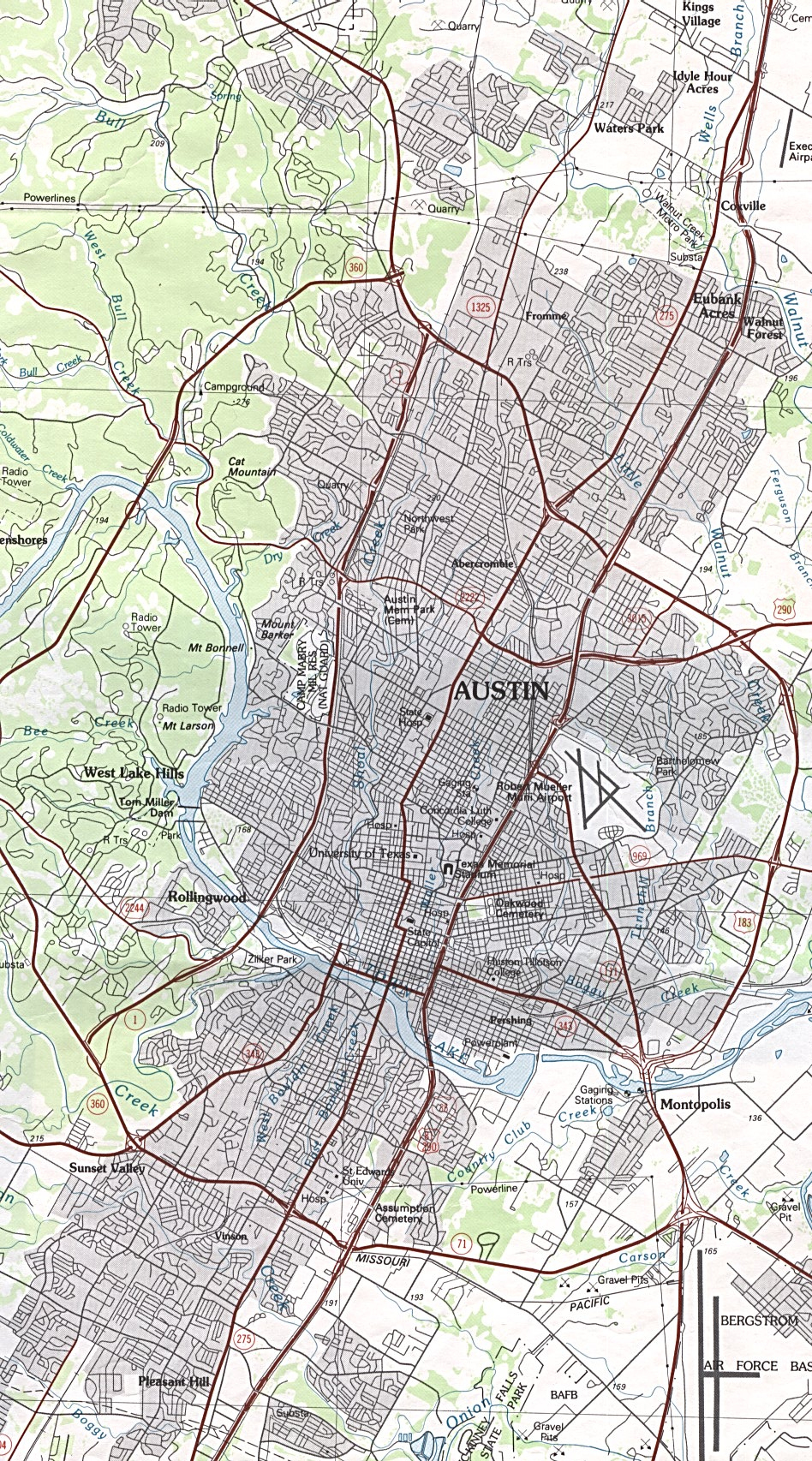 Austin, Texas Maps - Perry-Castañeda Map Collection - Ut Library Online - Street Map Of Austin Texas
