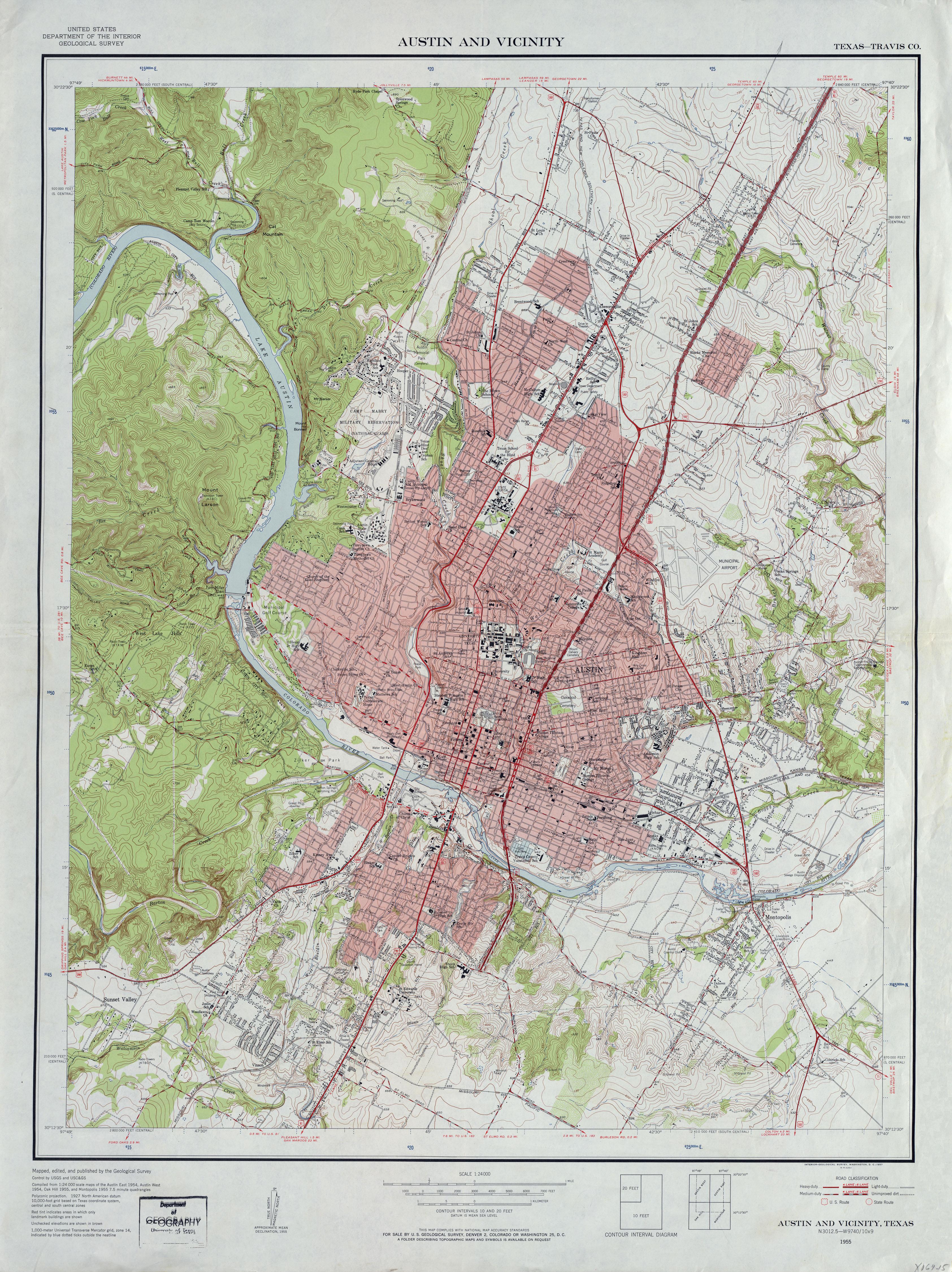 Austin, Texas Topographic Maps - Perry-Castañeda Map Collection - Ut - 3D Topographic Map Of Texas