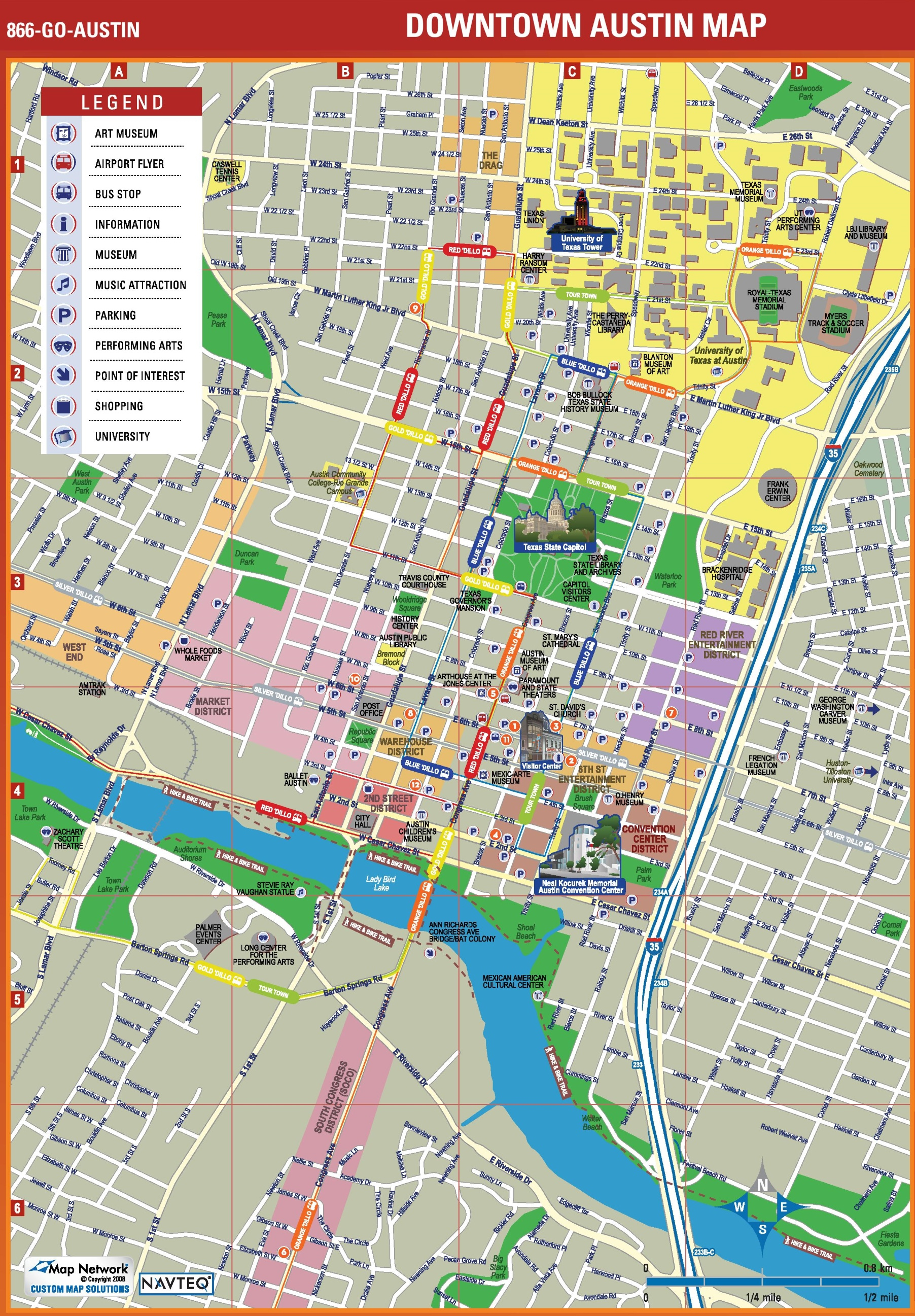 Austin Tourist Attractions Map - Printable Map Of Austin