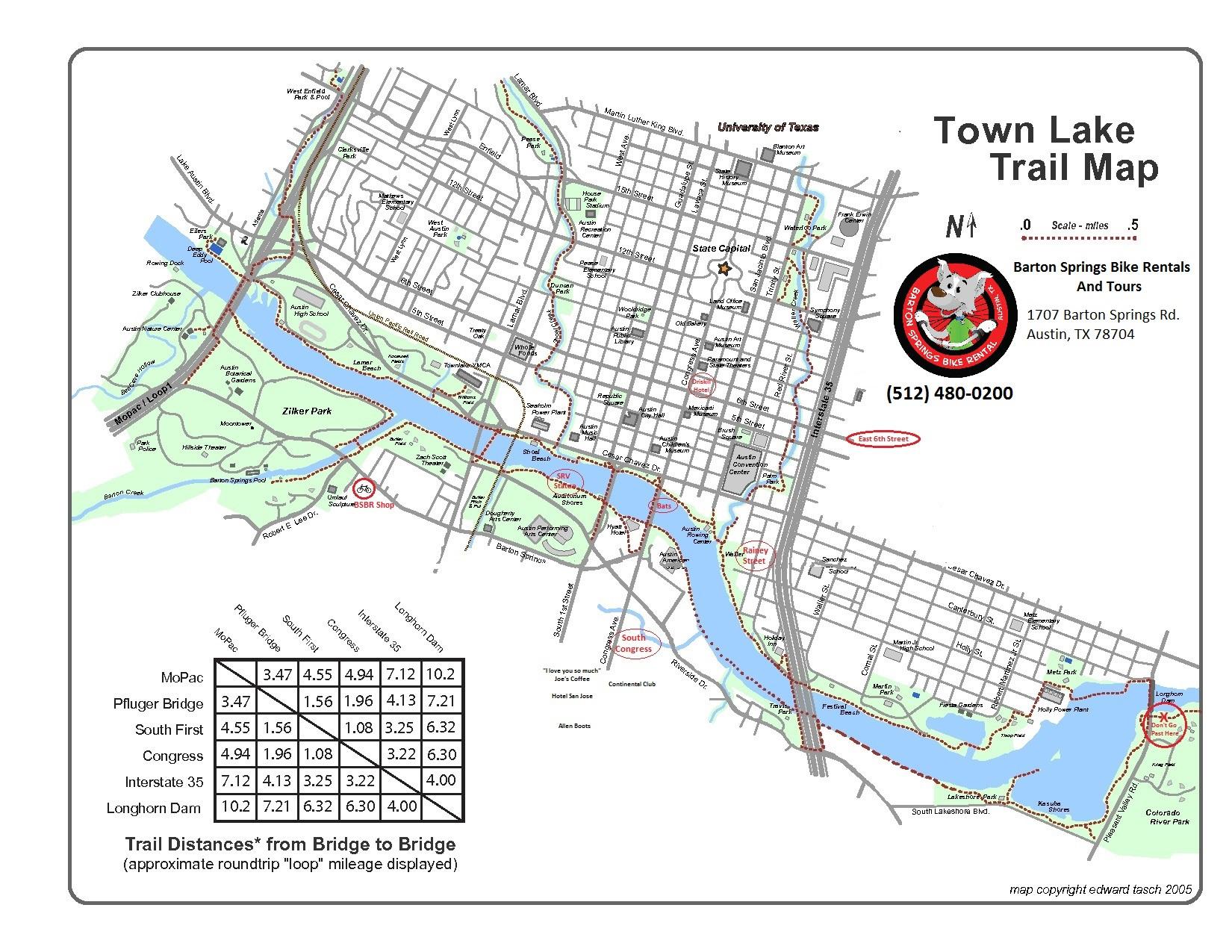 Austin Tours, Bike Tours, Bike Riding, Austin, Texas, Tx - Austin Texas Bicycle Map