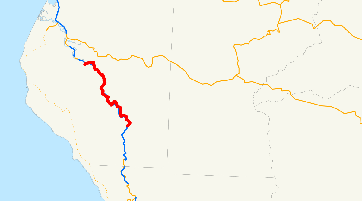 Avenue Of The Giants - Wikipedia - Avenue Of The Giants California Map