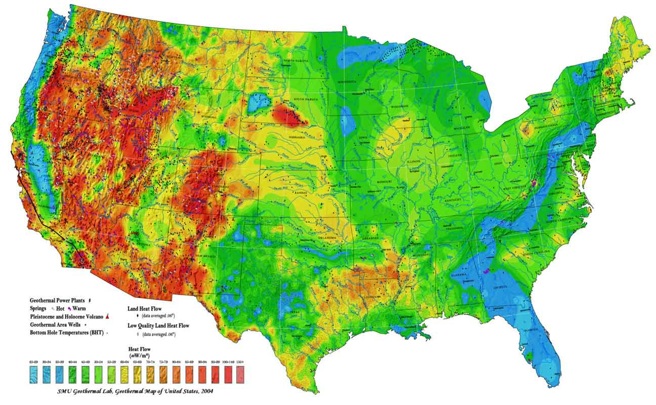 Average Temperature Of Shallow Ground Water - Florida Temp Map
