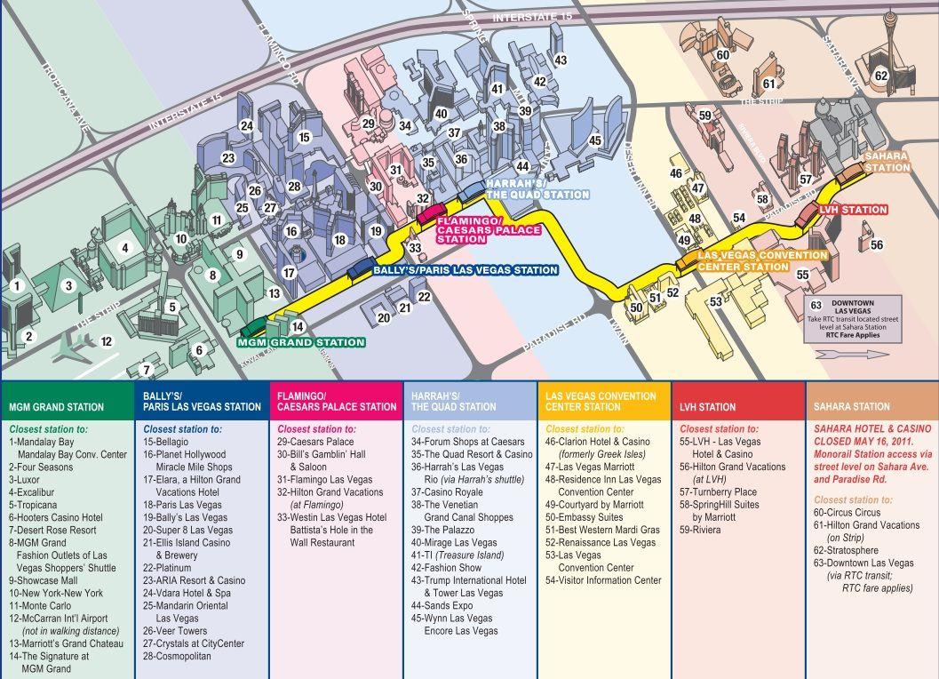 Avoid The Traffic - Las Vegas Monorail | Vegas Baby | Pinterest - Map Of Las Vegas Strip Hotels Printable
