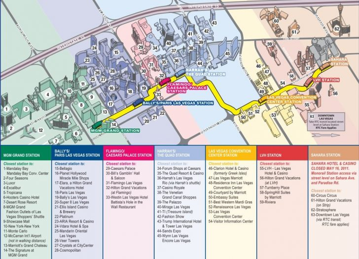 Printable Map Of Downtown Las Vegas