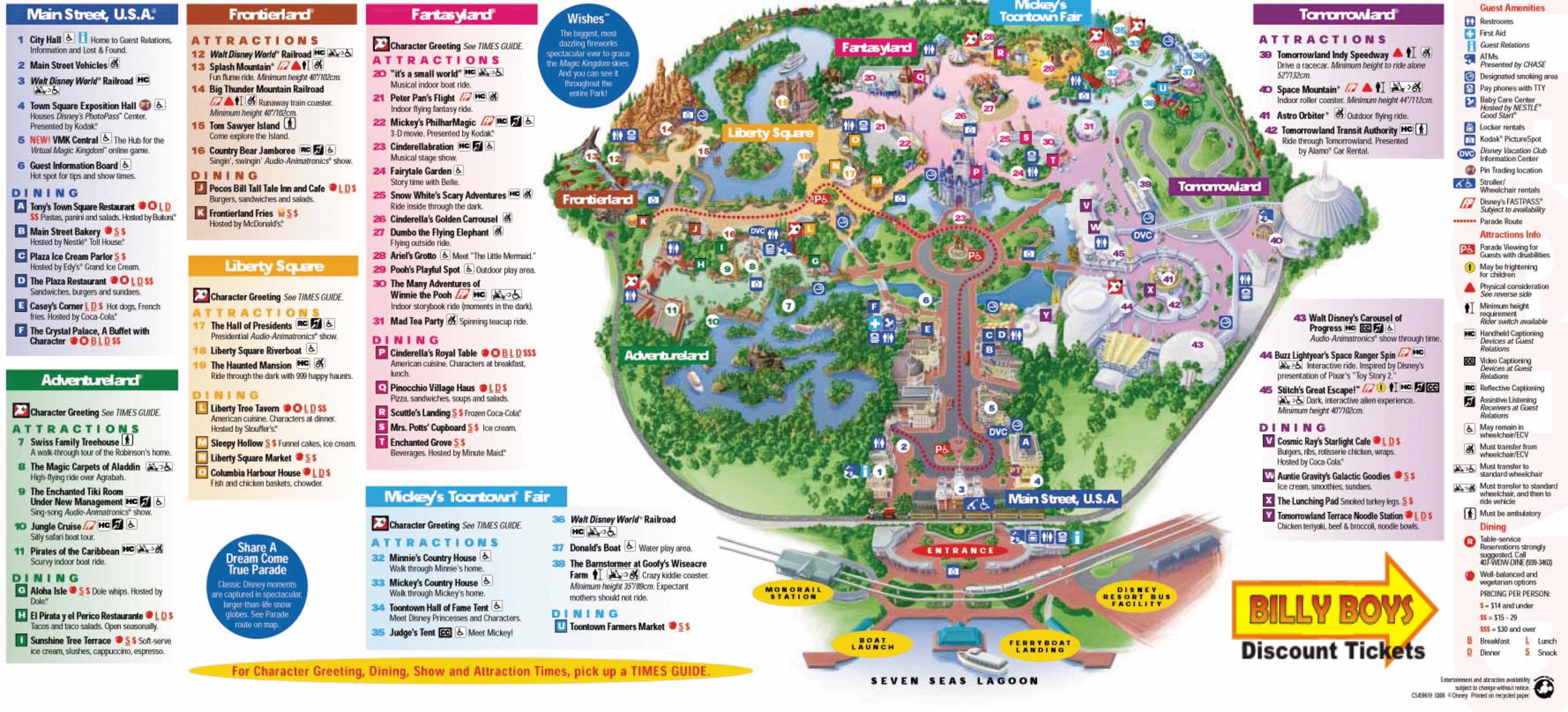 Awesome Printable Disney World Maps 1 - Link-Italia - Printable Disney Maps