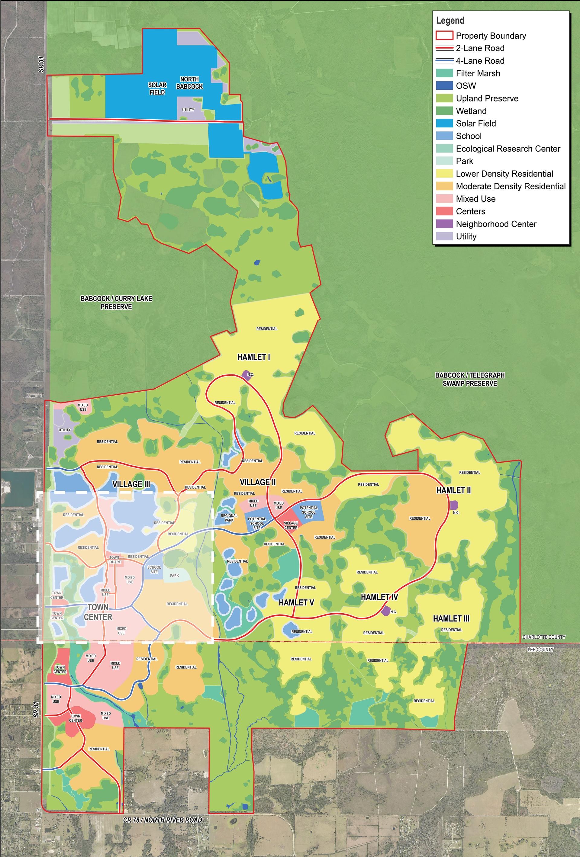 Babcock Ranch Maps   Babcock Ranch - Babcock Ranch Florida Map
