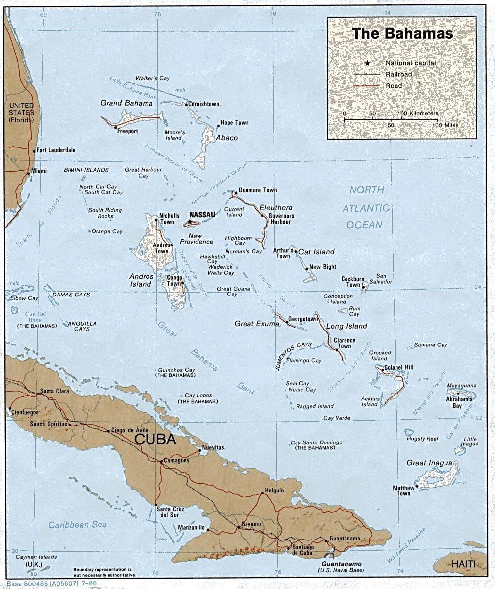 Bahamas Maps   Printable Maps Of Bahamas For Download - Printable Map Of Nassau Bahamas