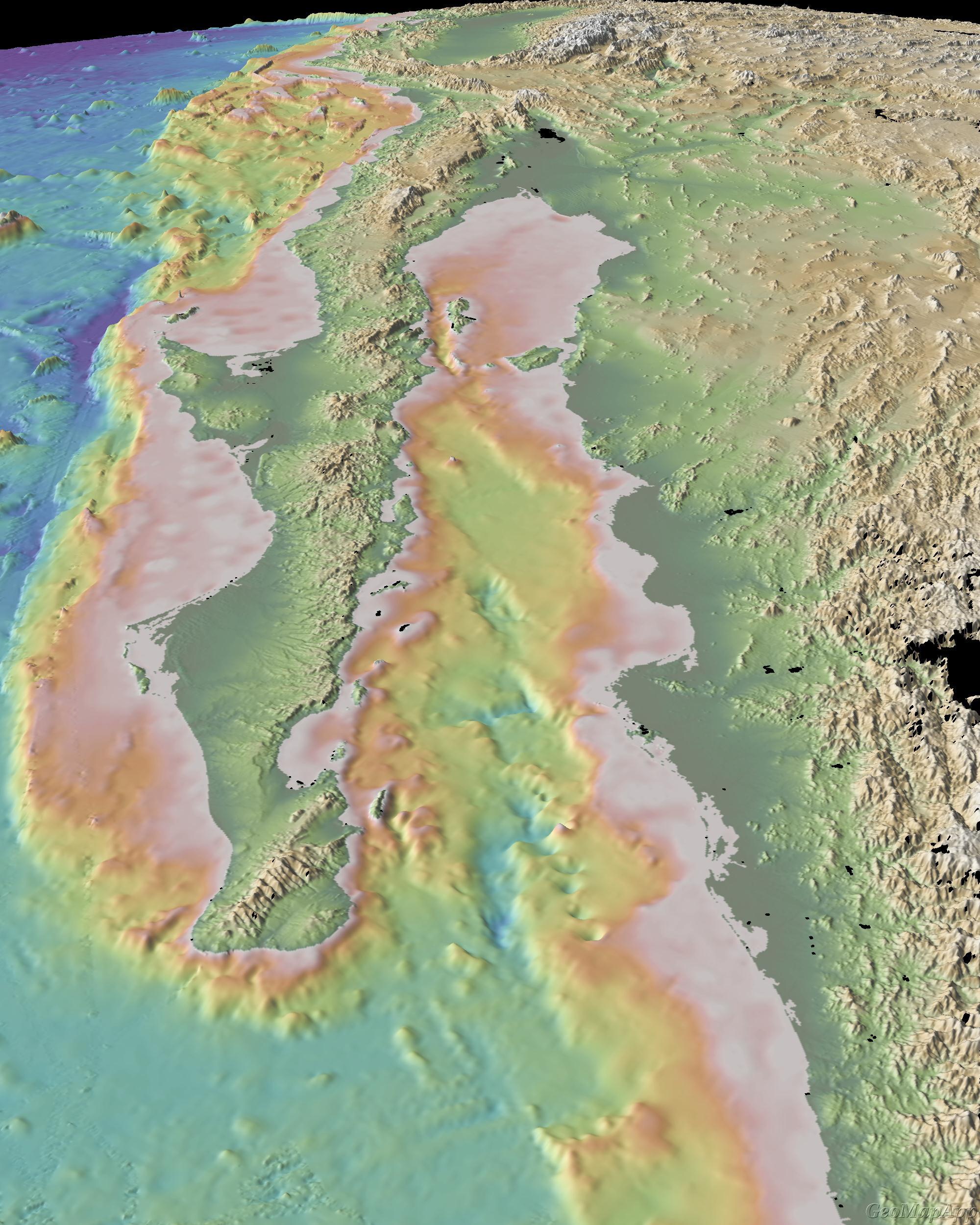 Baja California , Lower California - Baja California Topographic Maps