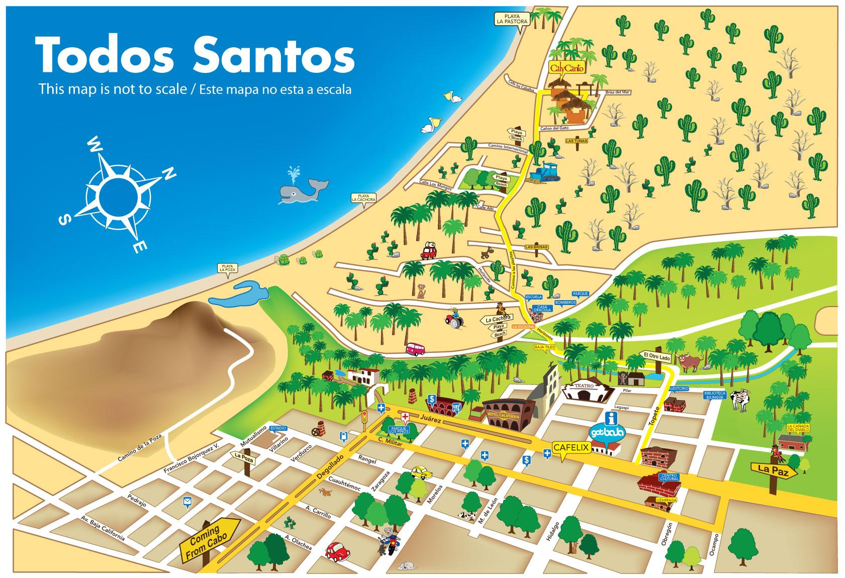 Baja Hostels -- Trip Planning And Hostel Bookings In Baja California - California Hostels Map