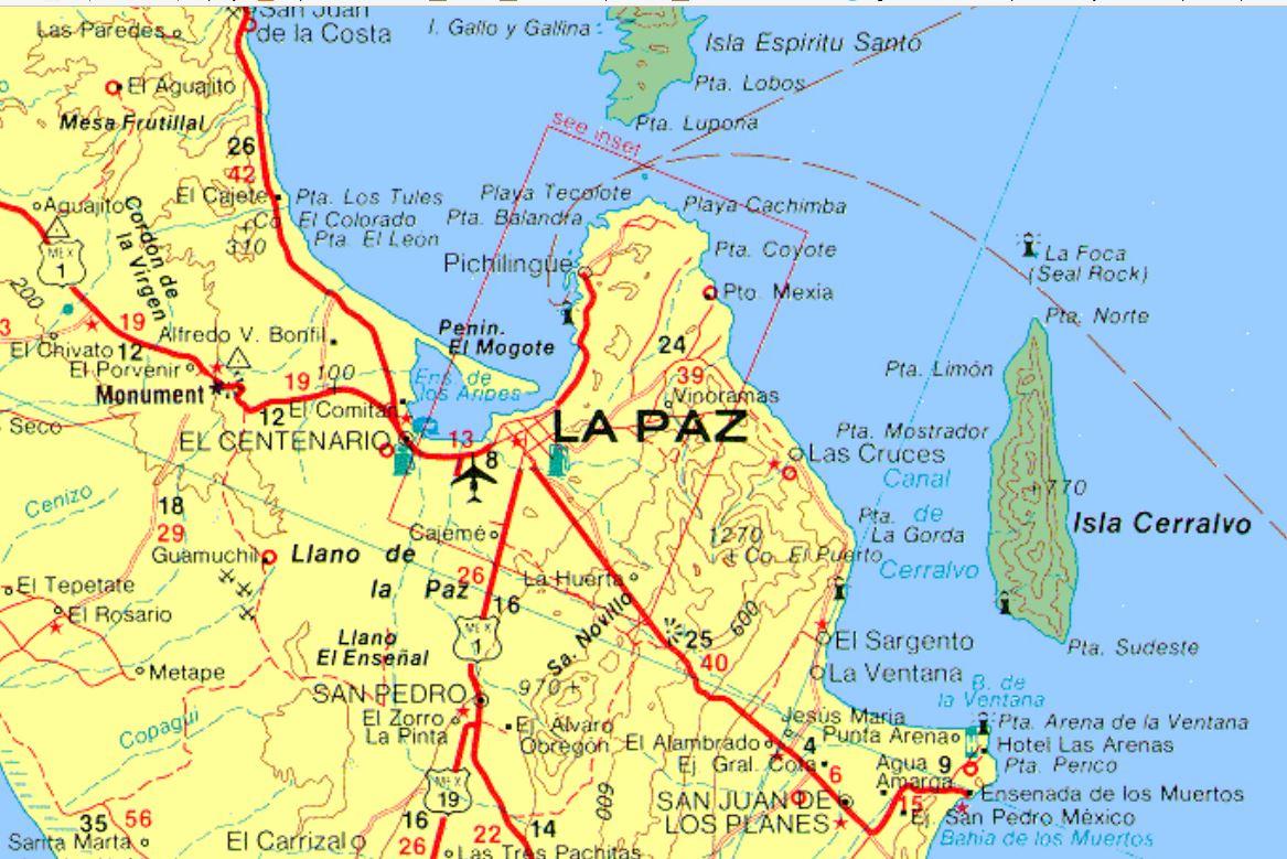 Baja Sur Sierra Cacachilens Maps Of California La Paz Baja - La Paz Baja California Map