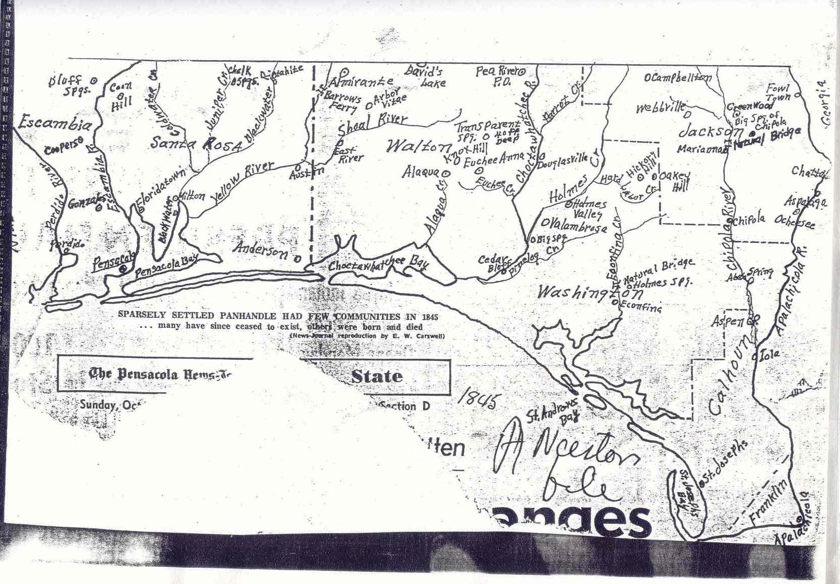Baker Block Museum Map Collection - Niceville Florida Map