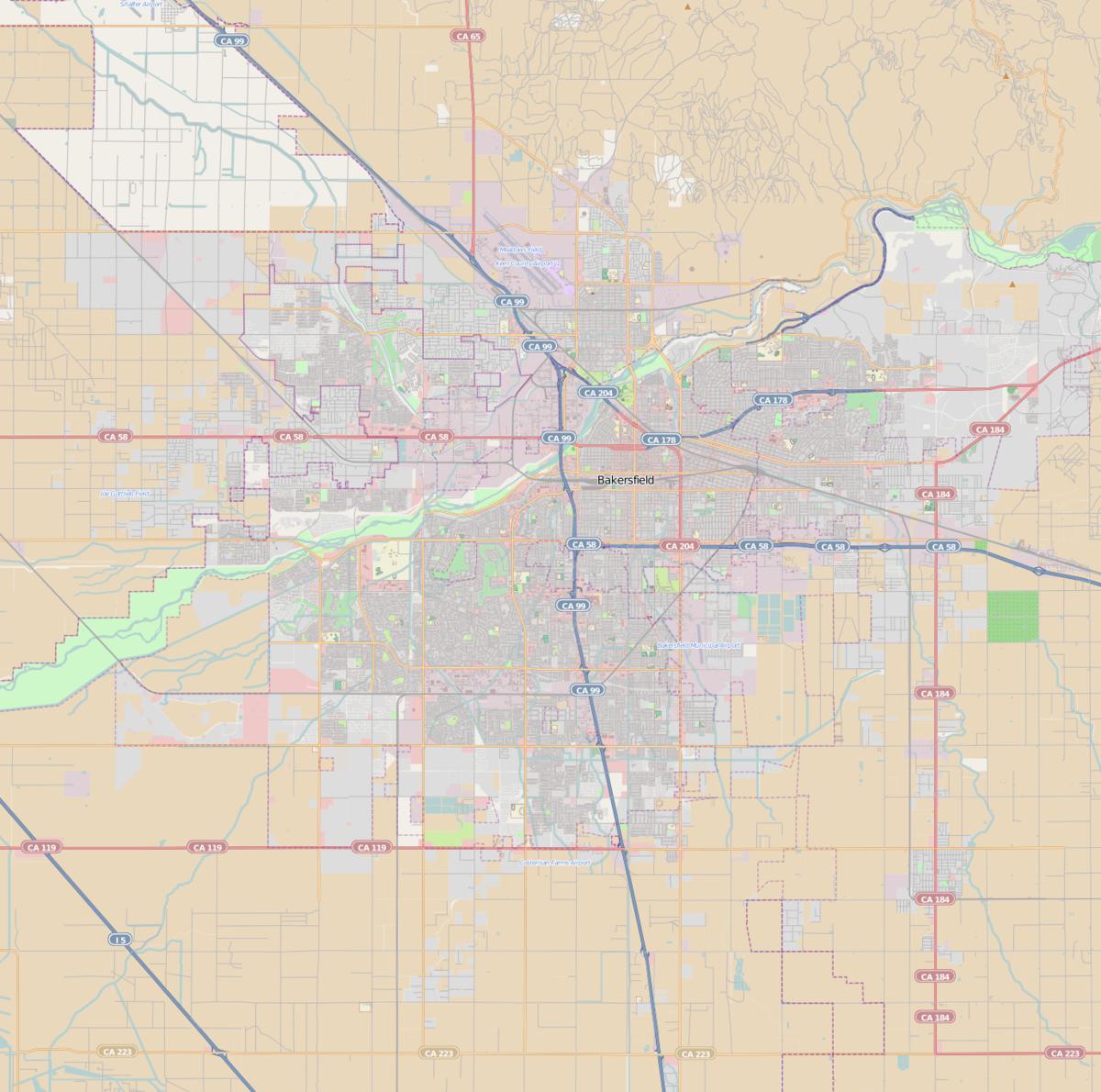 Bakersfield Station (Southern Pacific Railroad) - Wikipedia - California Train Map