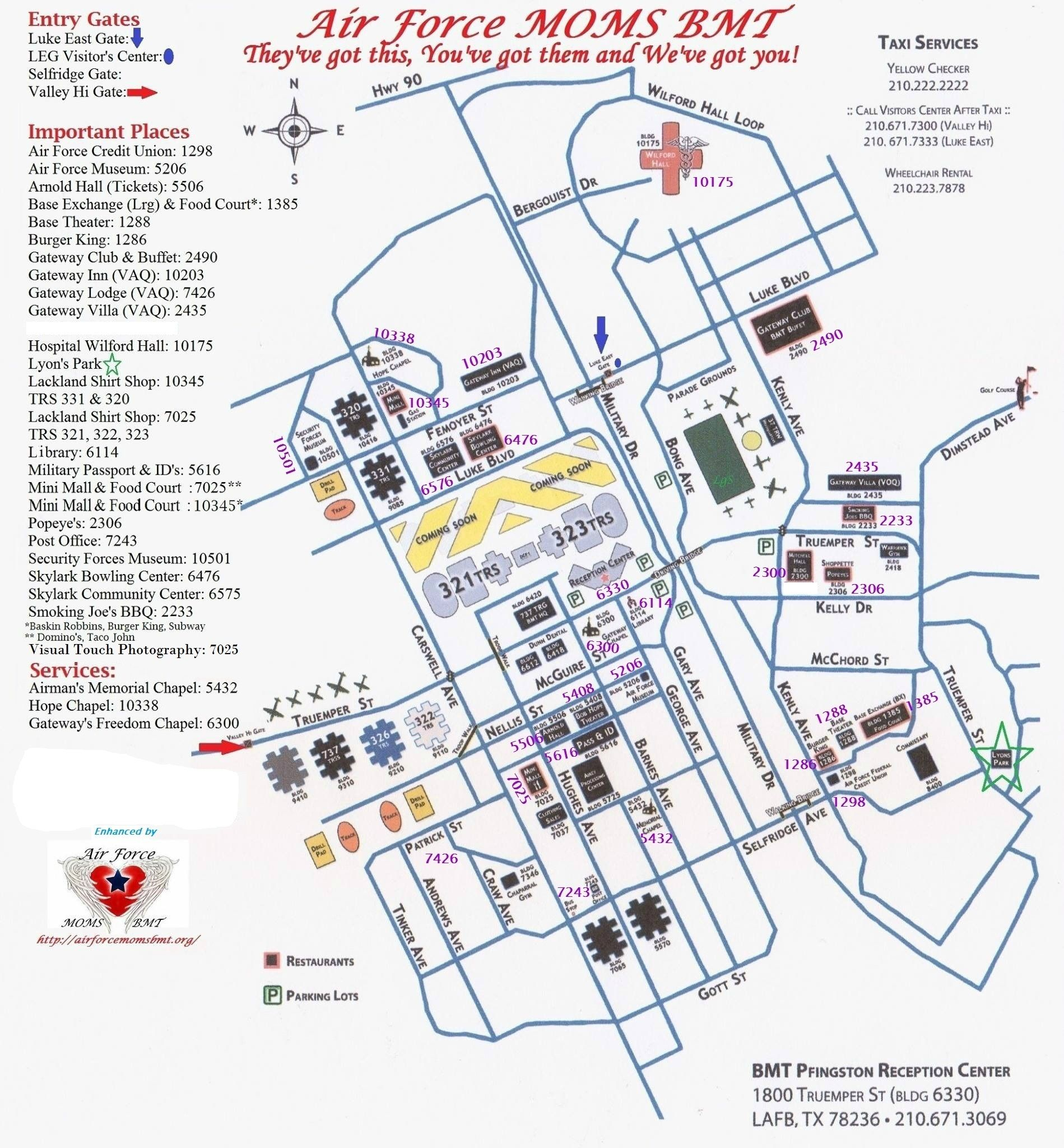 Bame Map With Building Numbers | San Antonio | Pinterest | Lackland - Lackland Texas Map