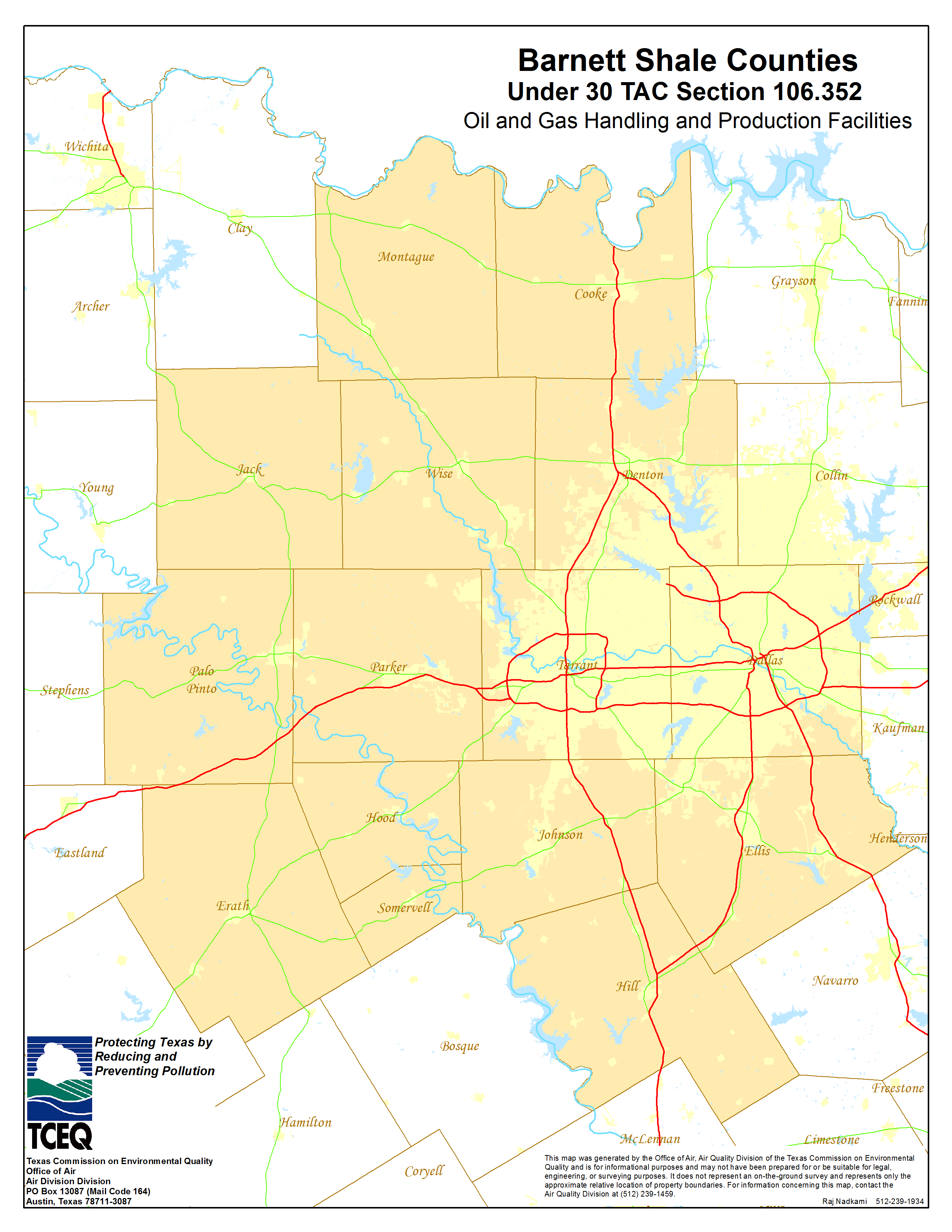 Barnett Shale Maps And Charts - Tceq - Www.tceq.texas.gov - Texas Land Survey Maps Online