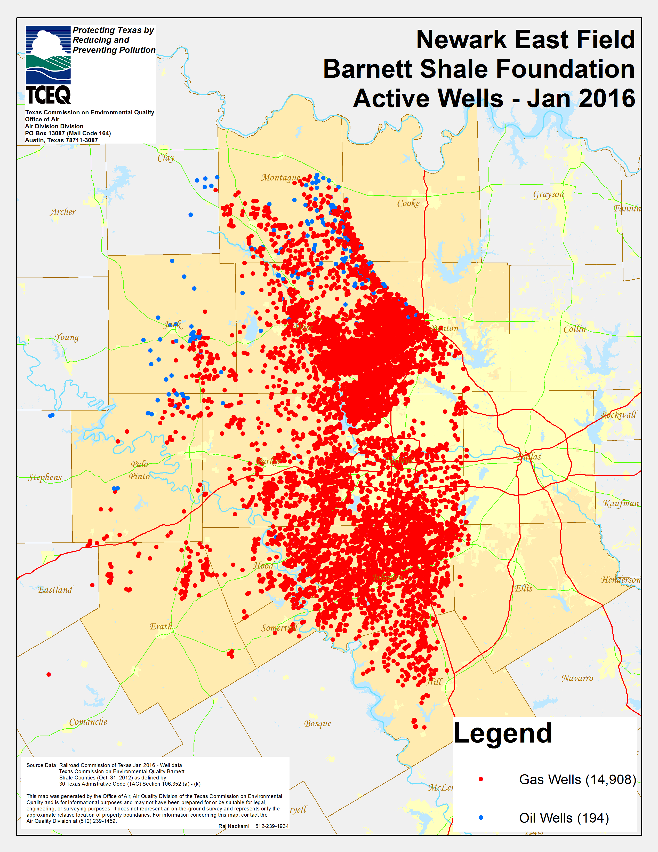 Barnett Shale Maps And Charts - Tceq - Www.tceq.texas.gov - Texas Oil And Gas Well Map