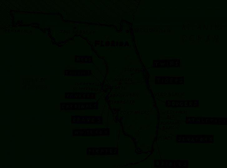 Florida Spring Training Map