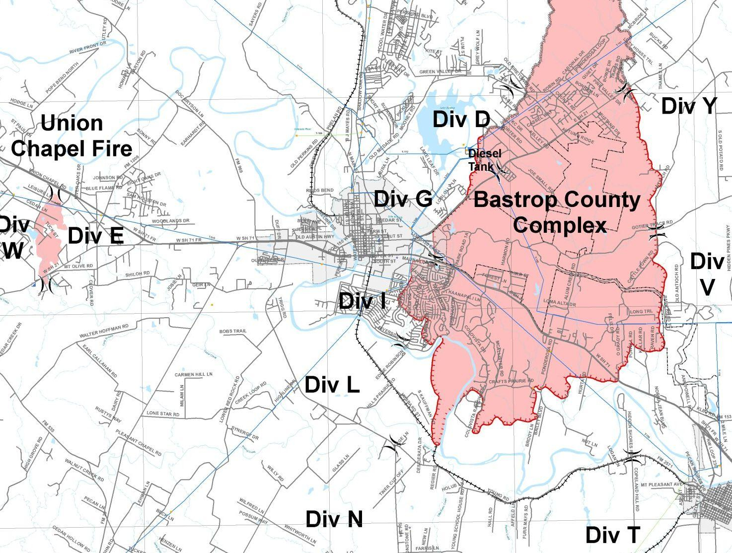 Bastrop County Releases New Fire Map | Kut - Texas Fire Map