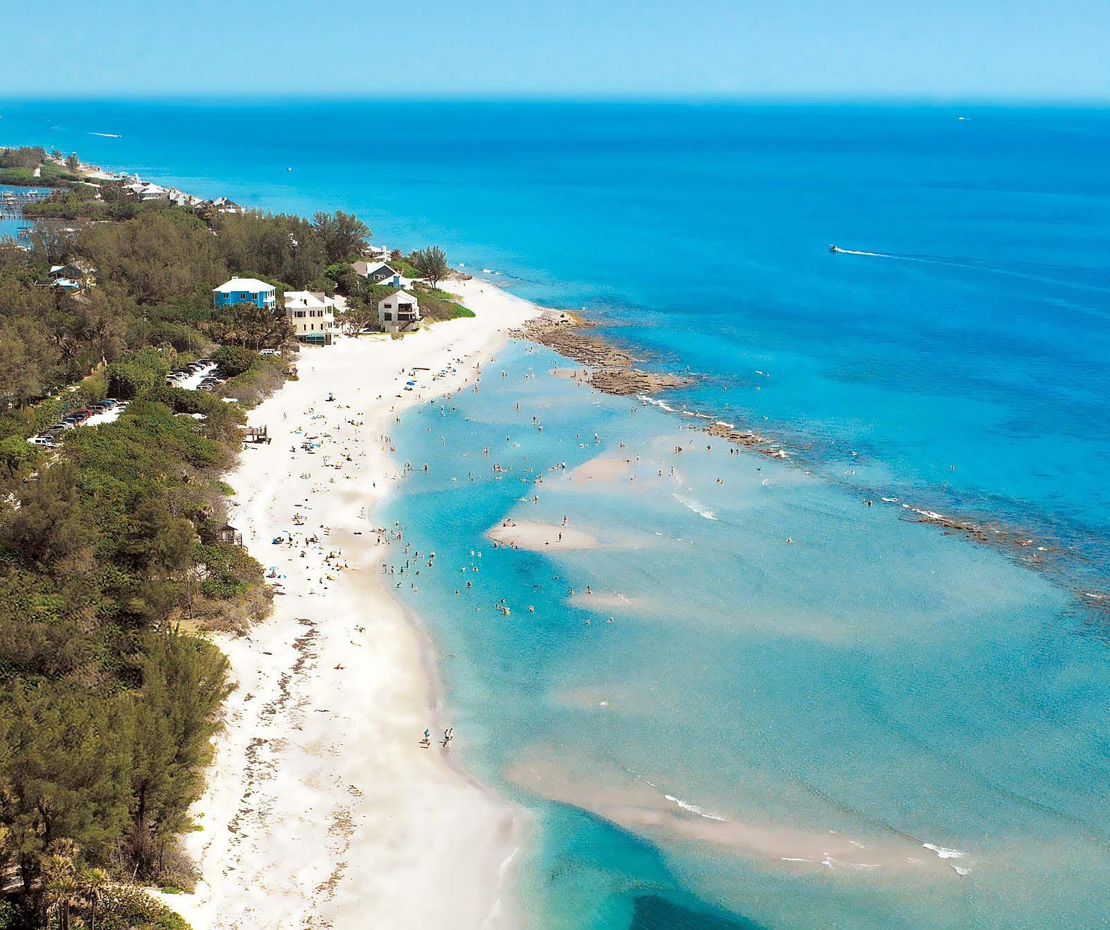Bathtub Reef Beach At Hutchinson Island Florida | Travel Florida In - Hutchinson Beach Florida Map