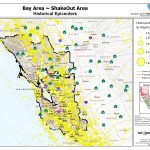 Bay Area Epicenters Map Picture Maps California Earthquake Risk Map   Map Of Bay Area California Cities