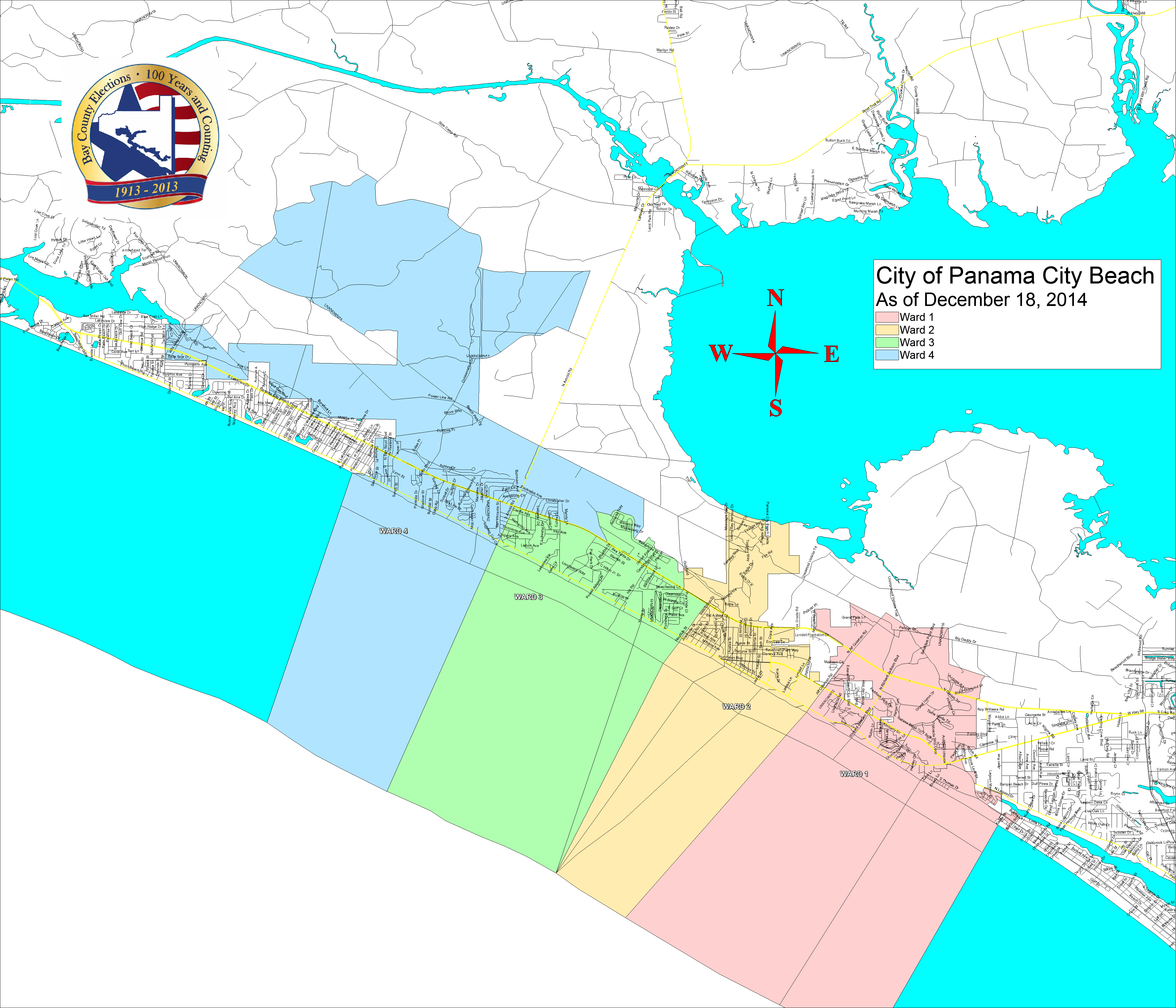 Bay County Supervisor Of Elections > Voter Info > Maps And Boundaries - Where Is Panama City Florida On The Map
