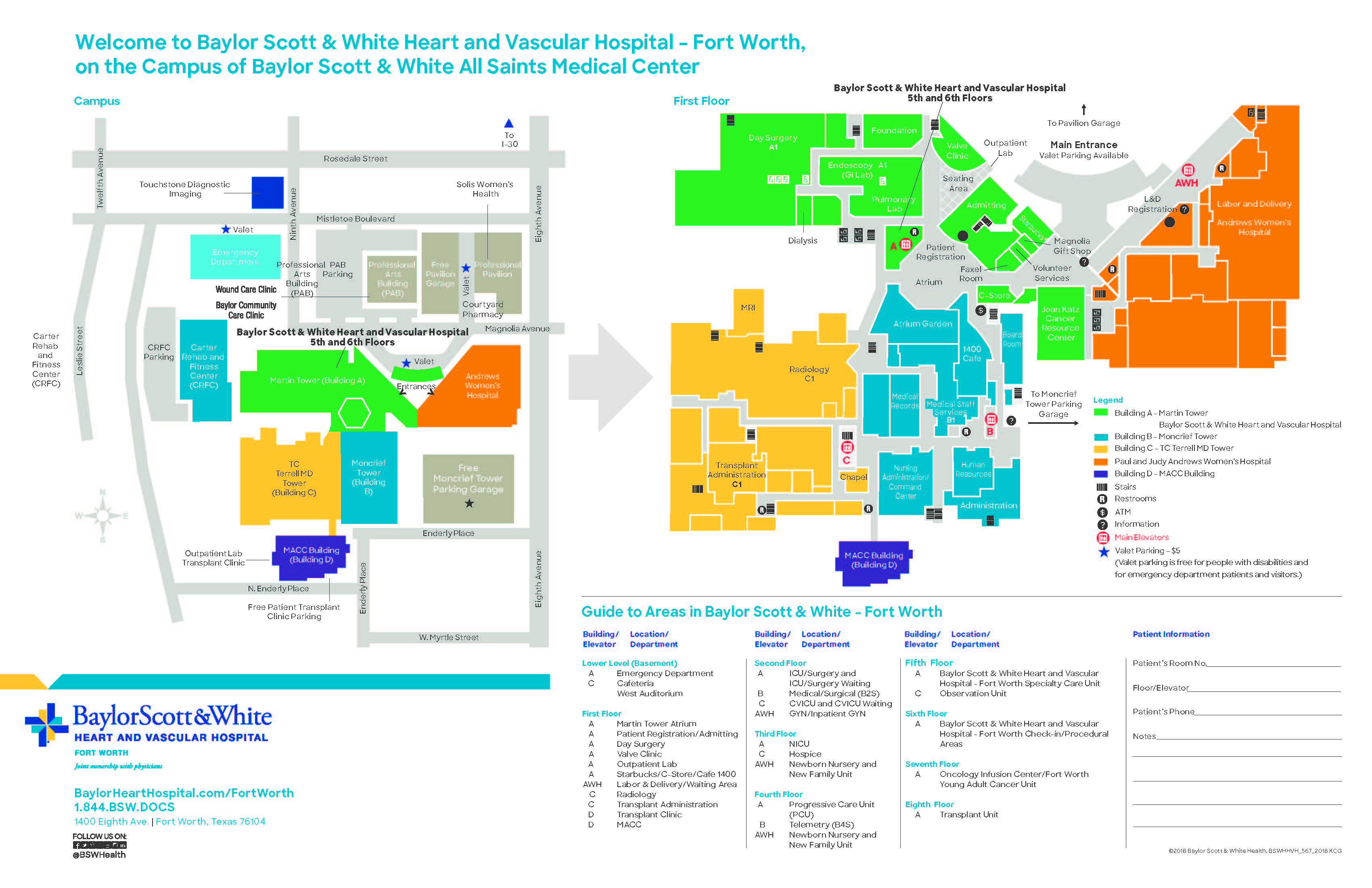 Baylor Scott & White Heart And Vascular Hospital - Directions - Fort - Baylor Hospital Dallas Texas Map