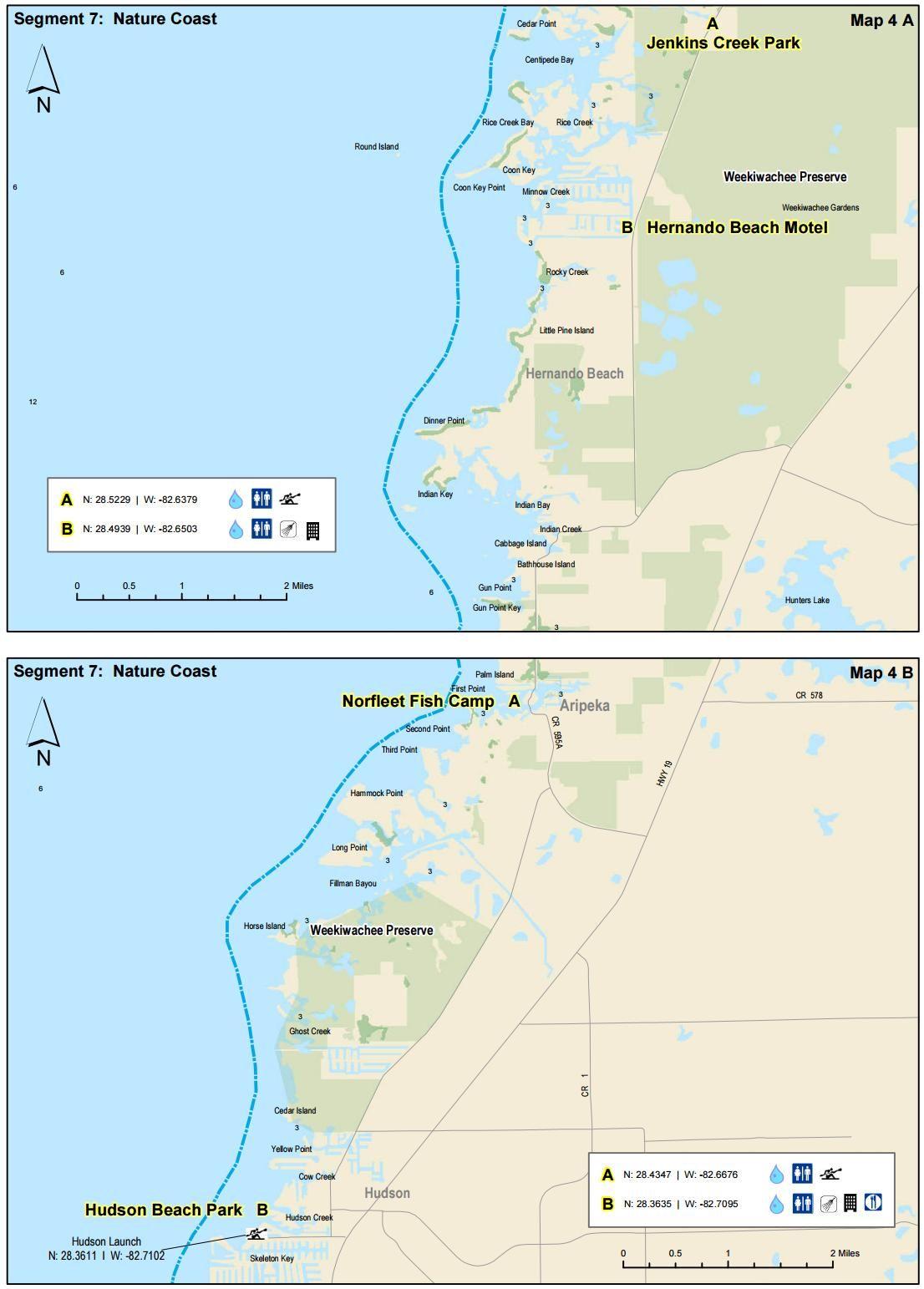 Bayport To Hudson Beach - Florida Circumnavigational Saltwater - Hudson Florida Map
