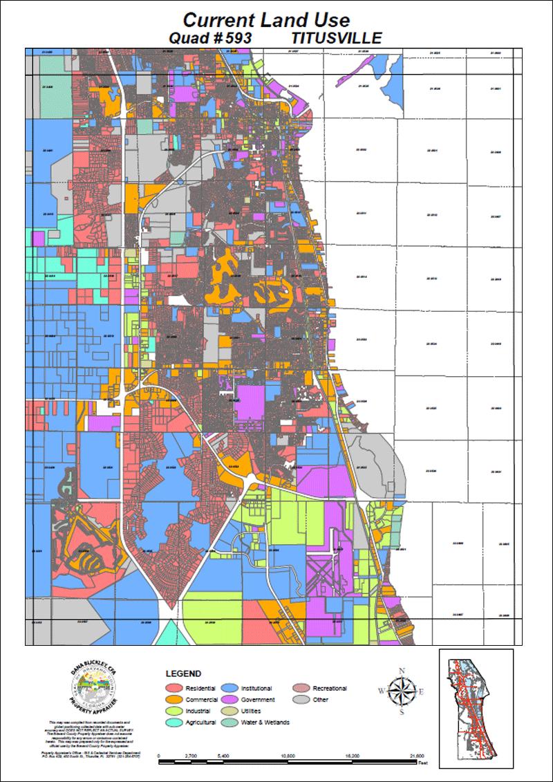 Bcpao - Maps & Data - Indian Harbor Beach Florida Map