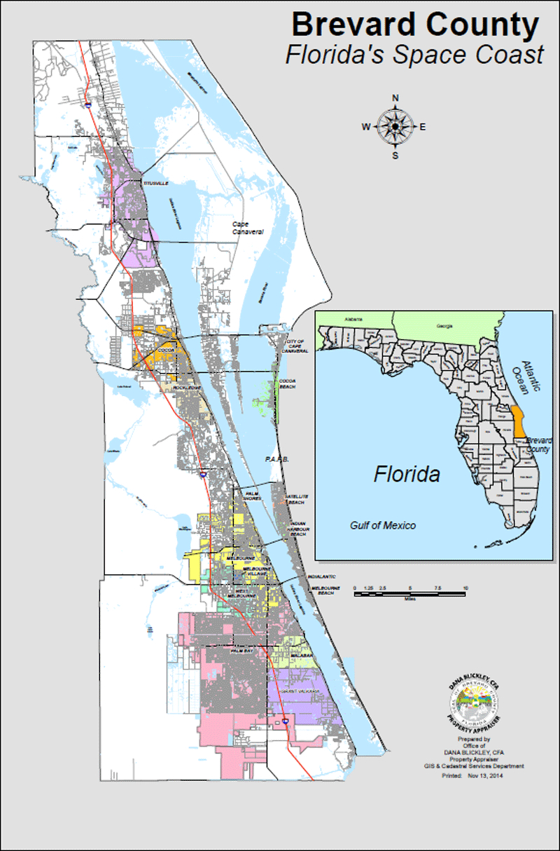 Bcpao - Maps & Data - Interactive Florida County Map
