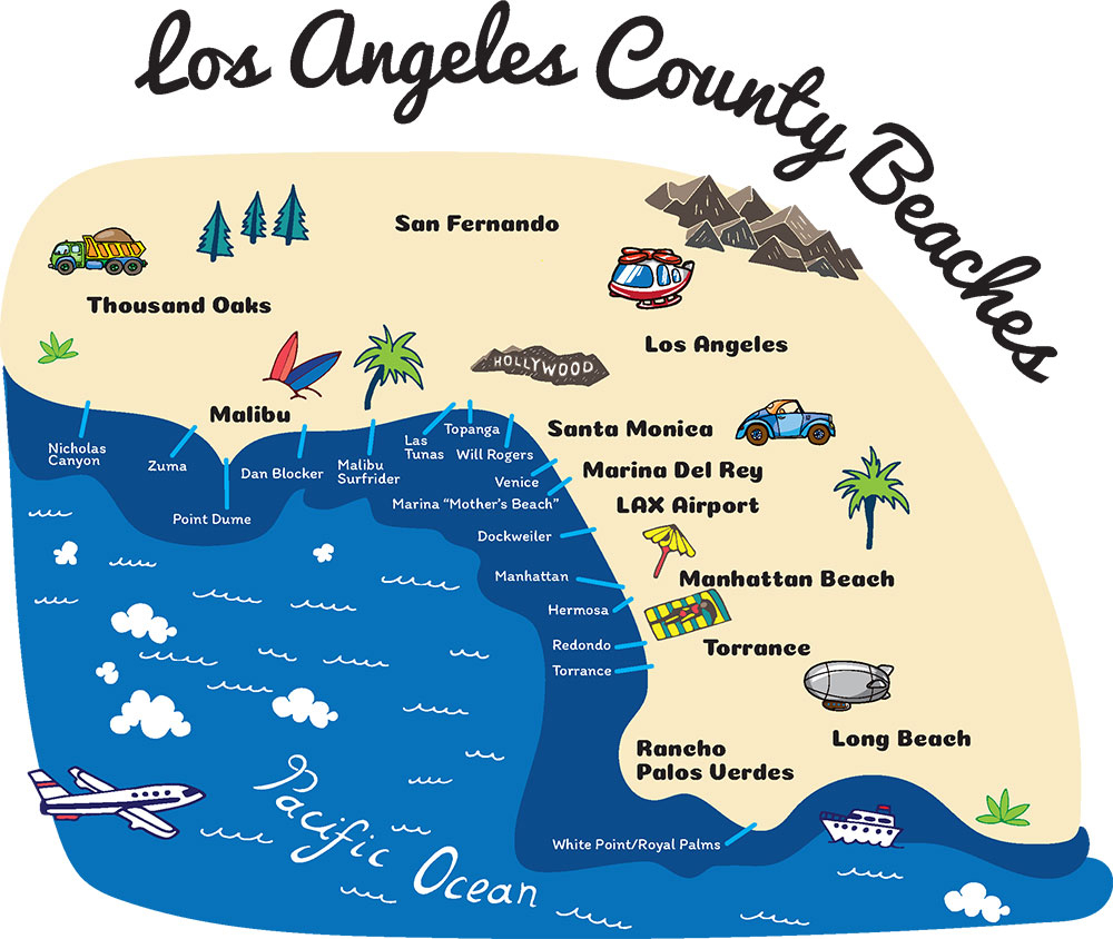 Beaches Map Light California Road Map Venice Beach California Map - Venice Beach California Map