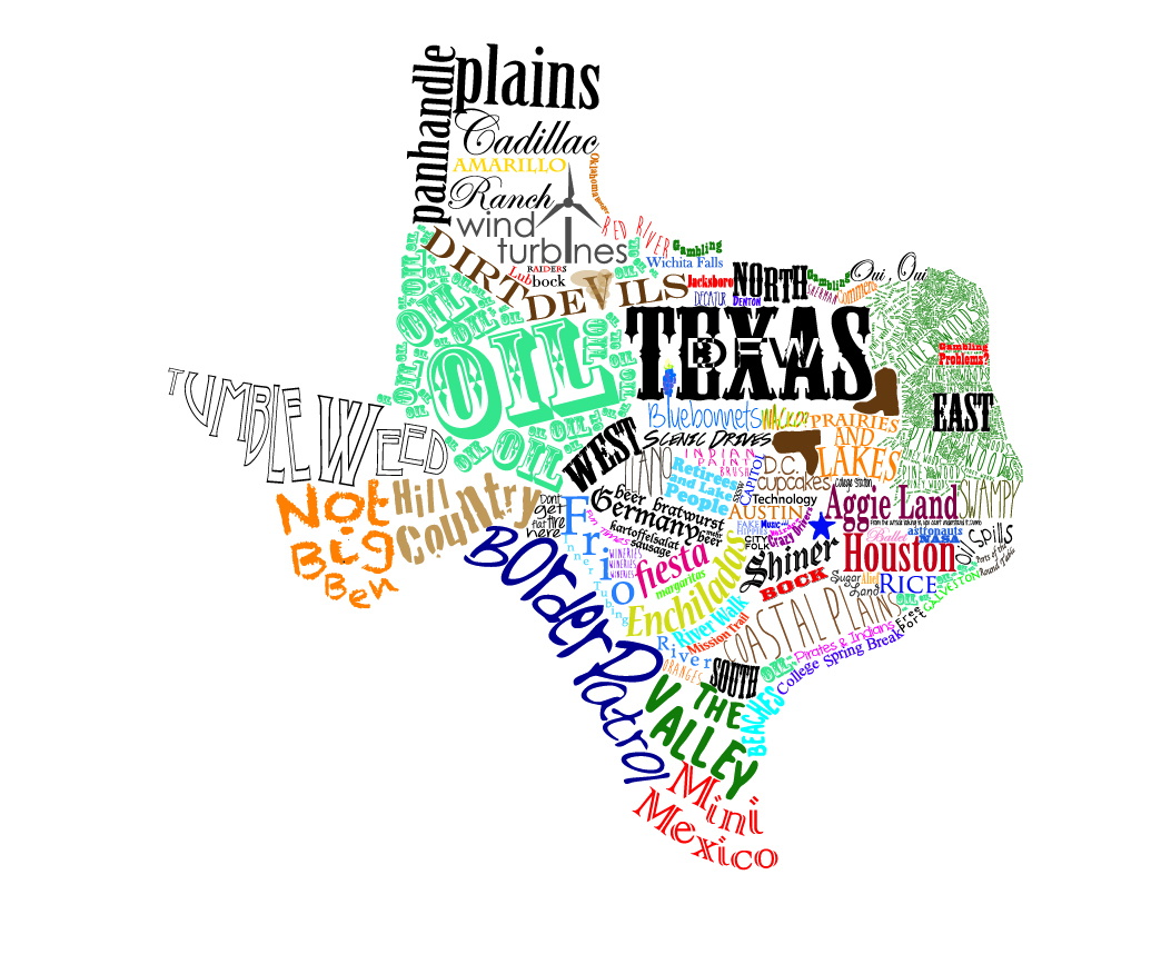 Beautiful Looking Texas Map Artwork Art Print Decor Marble - World Maps - Texas Map Artwork