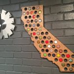 Beer Cap Map – Turn Your Love For Craft Beer Into Wall Art   California Beer Cap Map