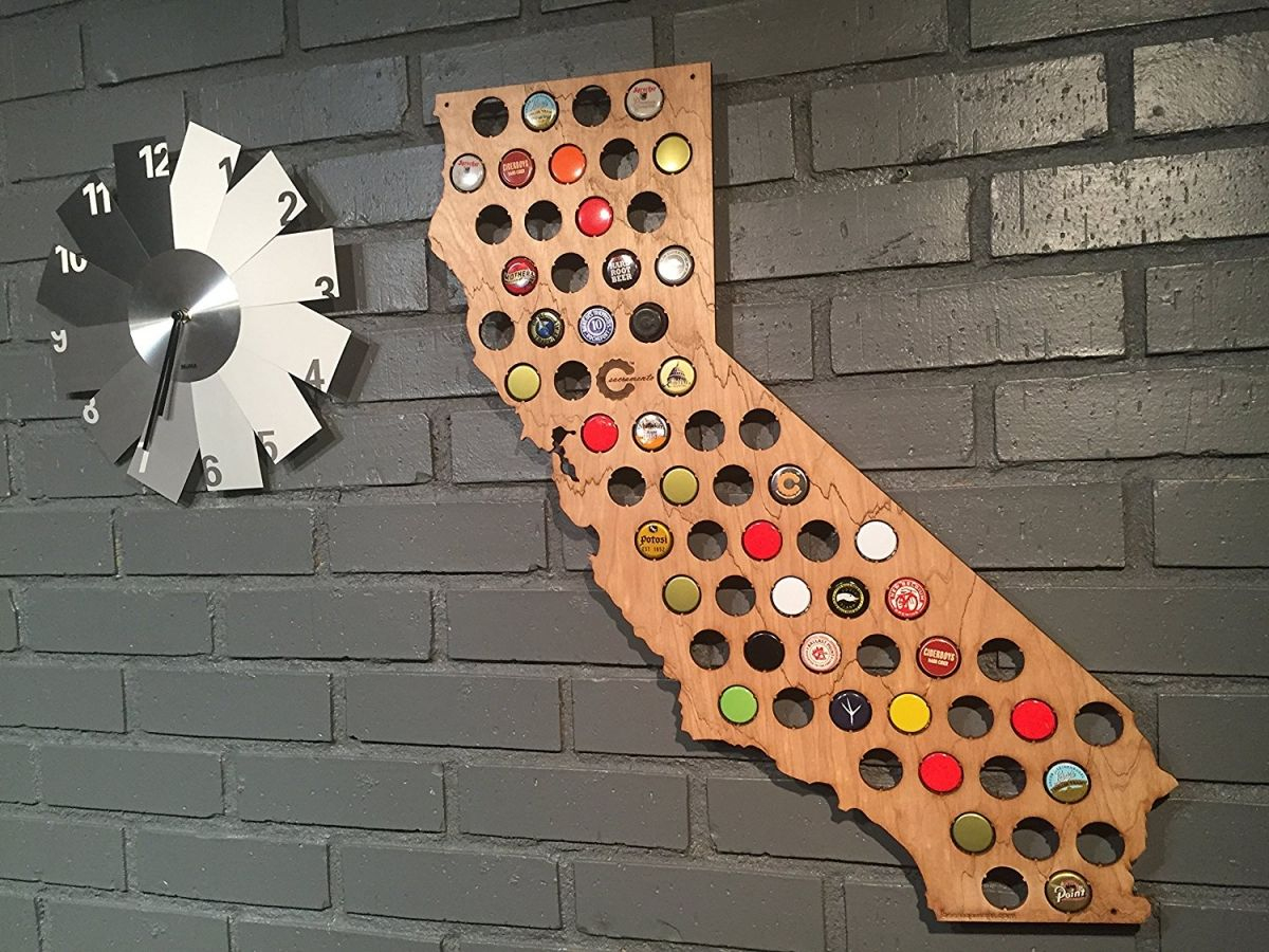 Beer Cap Map – Turn Your Love For Craft Beer Into Wall Art - California Beer Cap Map