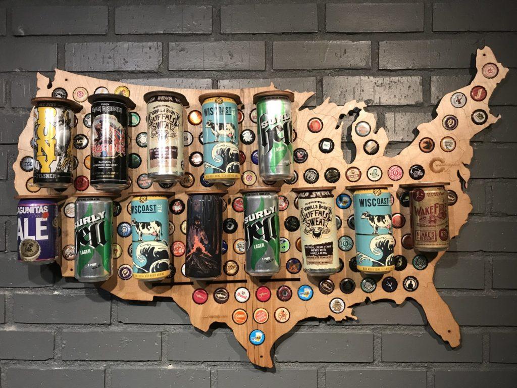 Beer Cap Maps: Travel & Craft Beer » The Brew Brotha - Texas Beer Cap Map