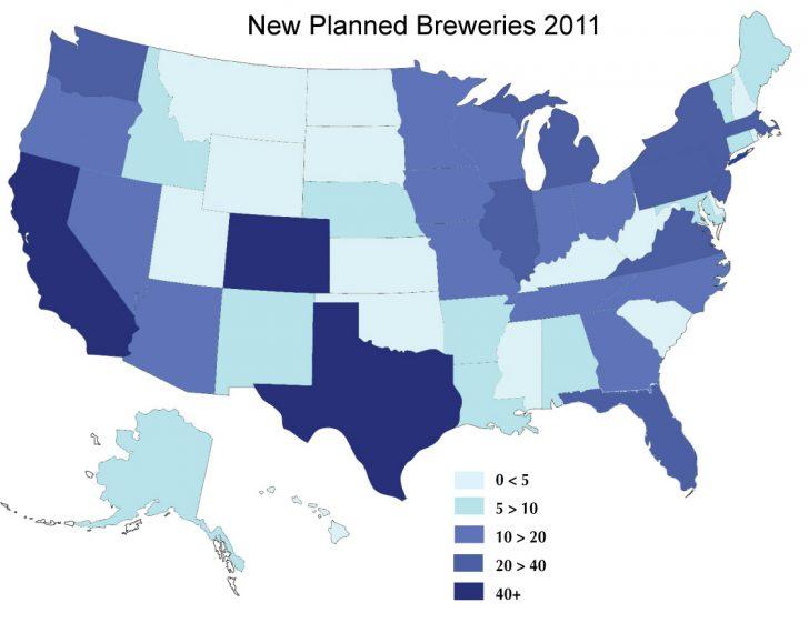 Texas Breweries Map