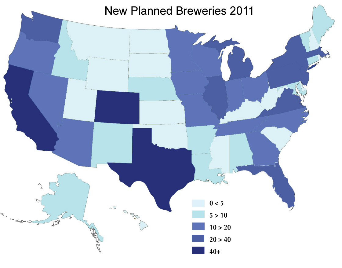 Beervana Buzz: Planned Brewery Growth, Part 2 - Texas Breweries Map