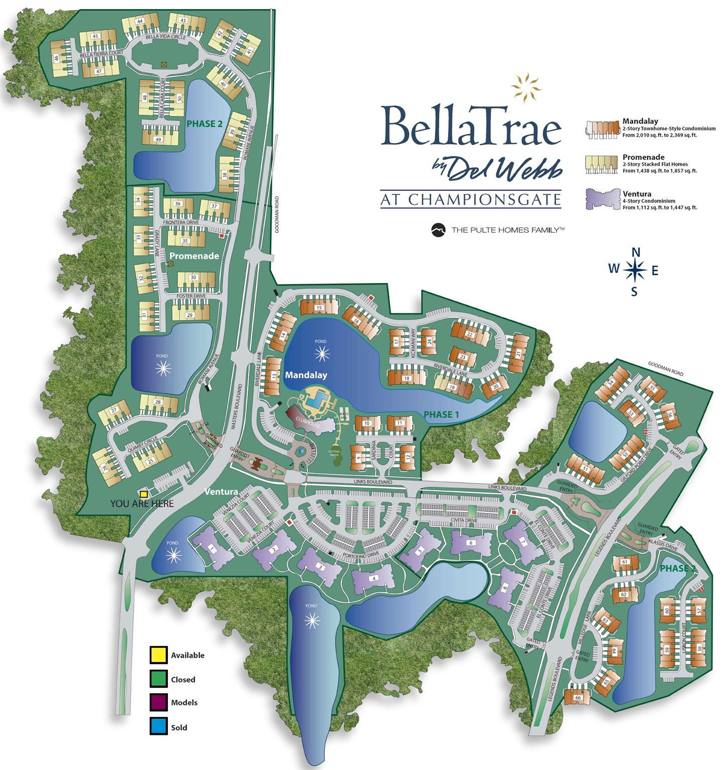 Bellatrae At Champions Gate Del Webb Golf Community, Champions Gate - Champions Gate Florida Map