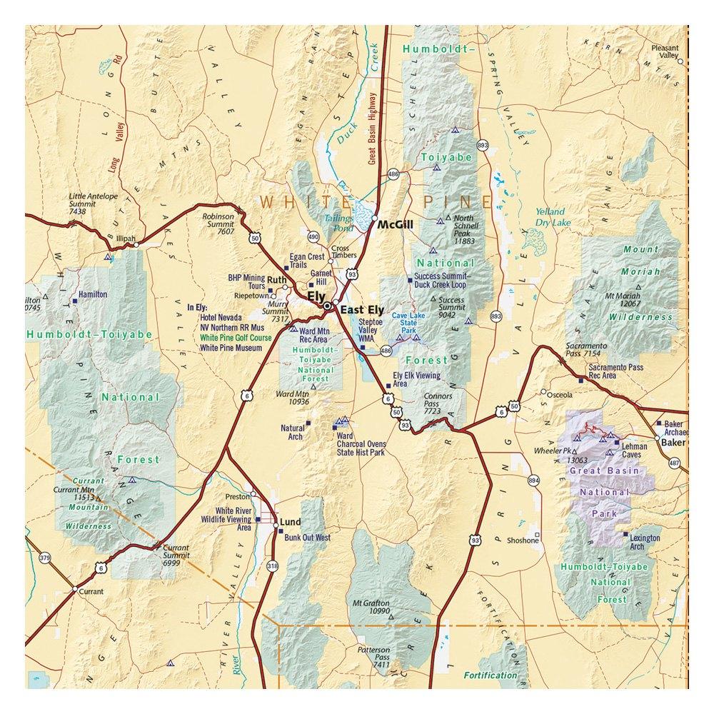 Benchmark Maps® - Road Map - Recreationid - Benchmark Maps California
