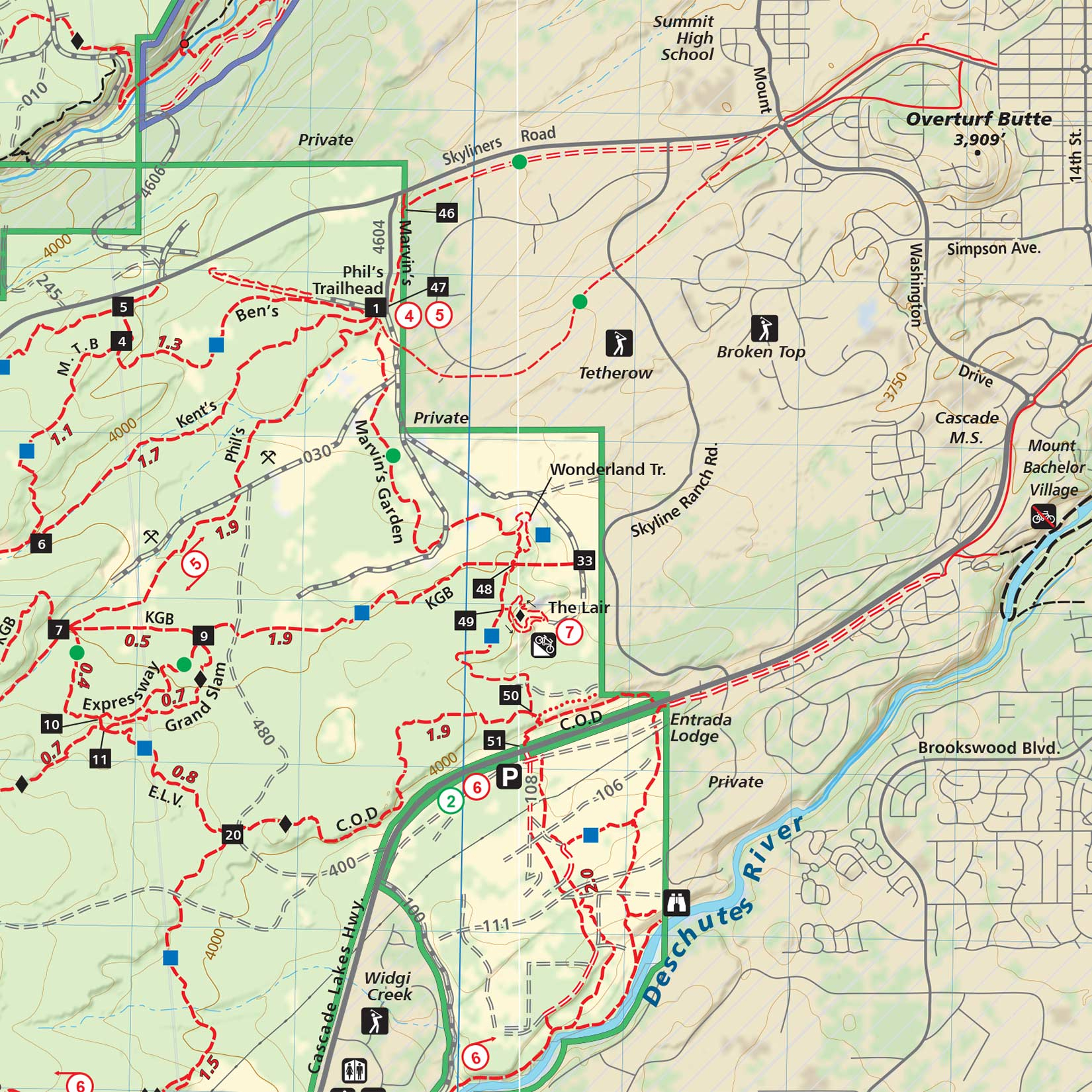 Bend Area Trail Map | Adventure Maps - Printable Map Of Bend Or