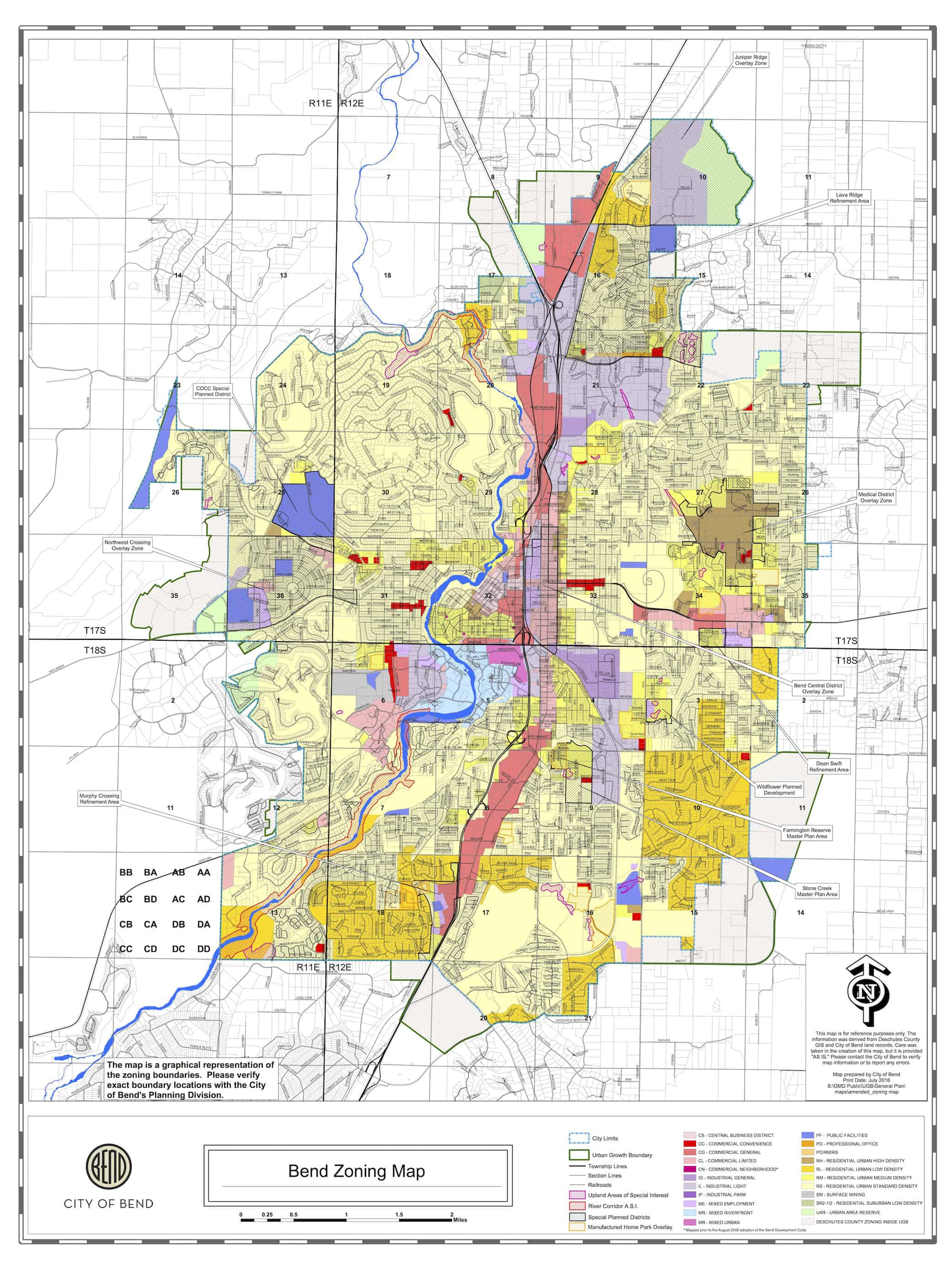Bend Oregon Maps - Bend Brokers Realty - Printable Map Of Bend Or