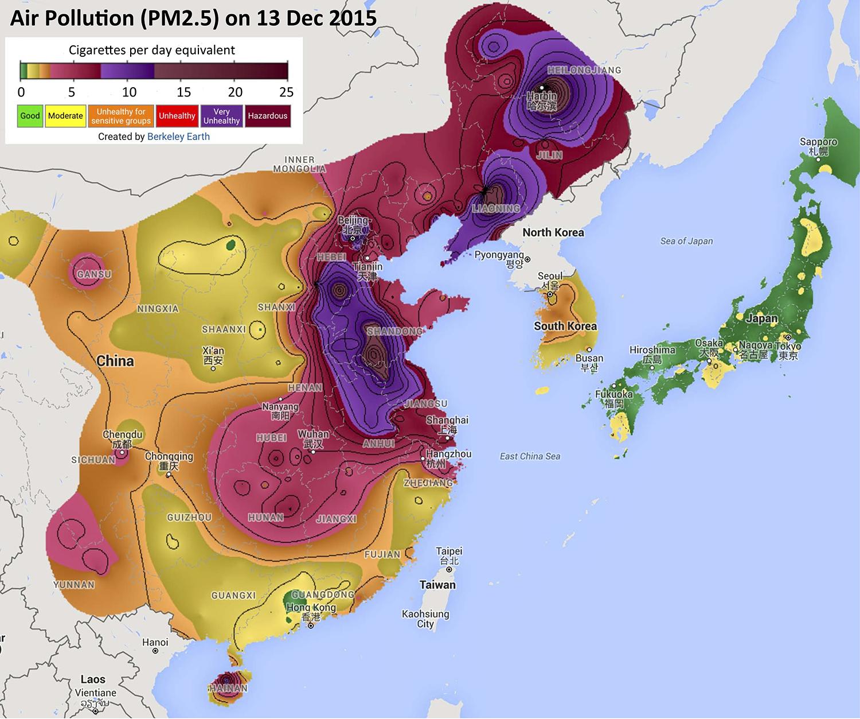 Berkeley Earth - California Air Quality Index Map