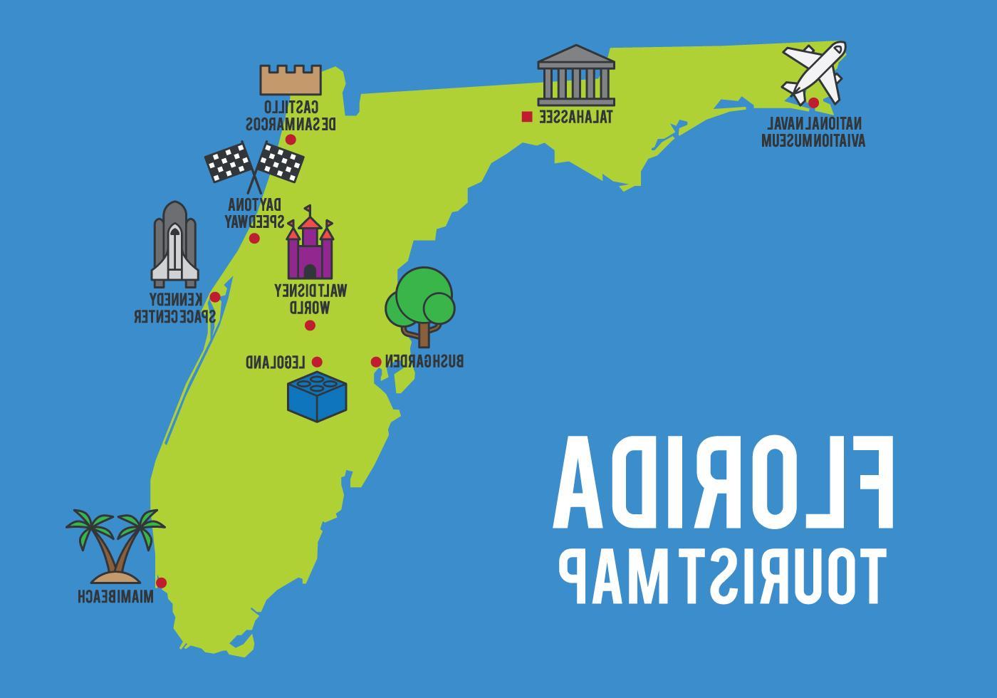 Best Cartoon Map Of Florida State Vector Pictures - Florida Cartoon Map