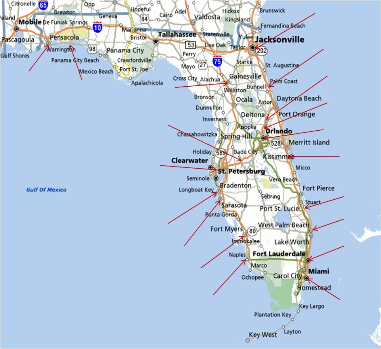 Best East Coast Florida Beaches New Map Florida West Coast Florida - Gulf Coast Cities In Florida Map