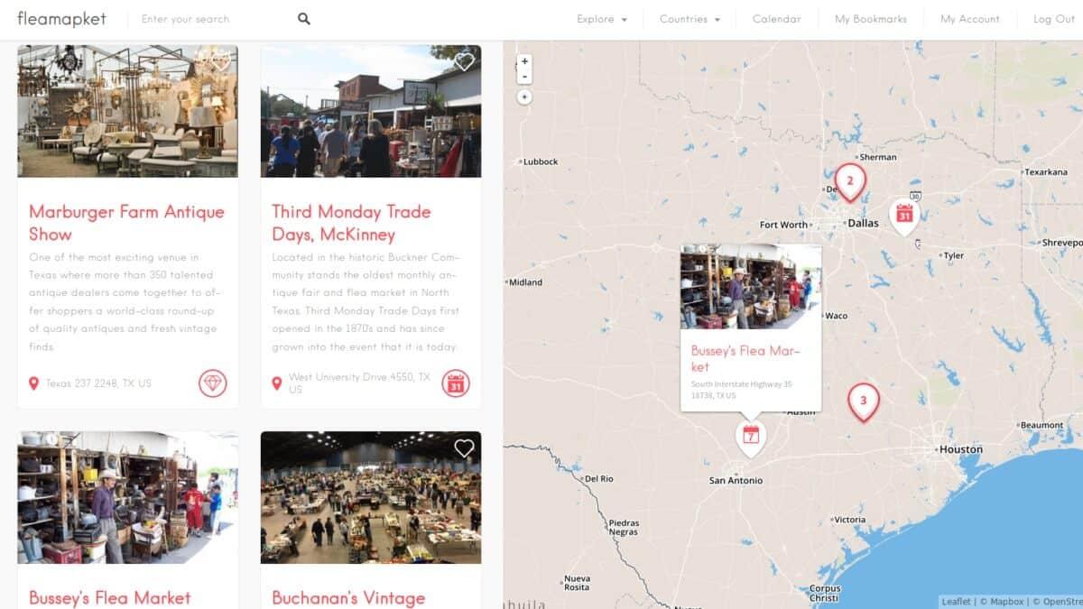 Best Flea Markets In Texas   Flea Market Insiders - Canton Texas Flea Market Map