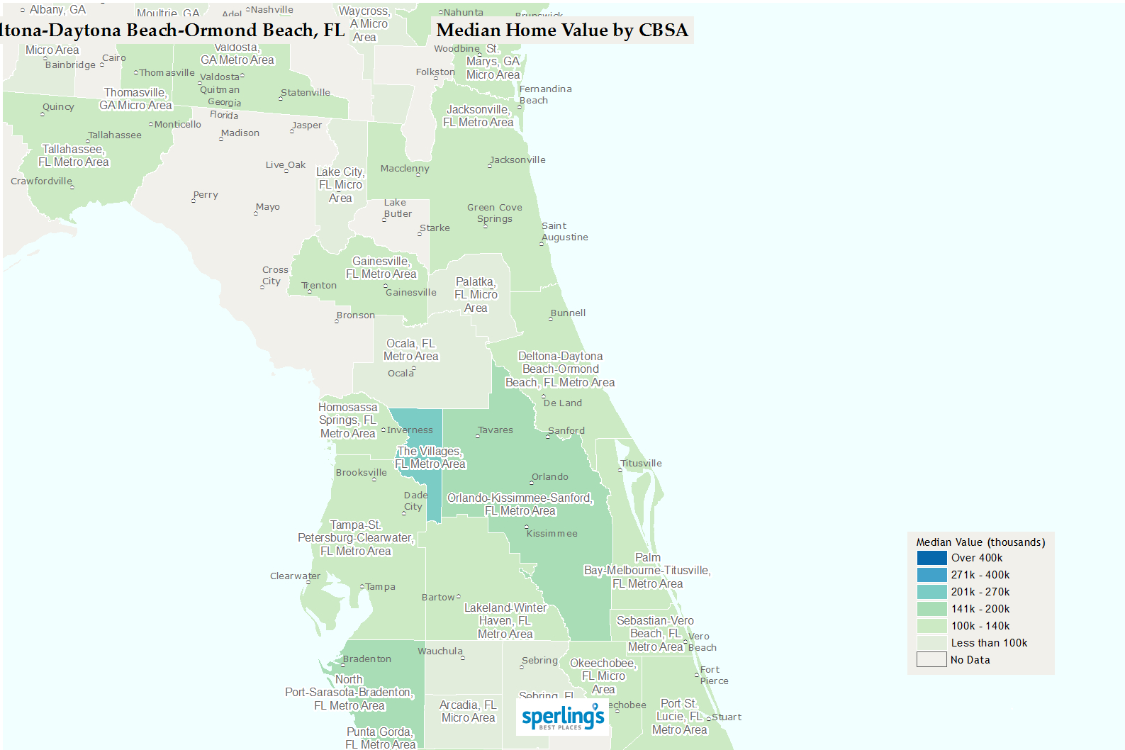 Best Places To Live | Compare Cost Of Living, Crime, Cities, Schools - Edgewater Florida Map
