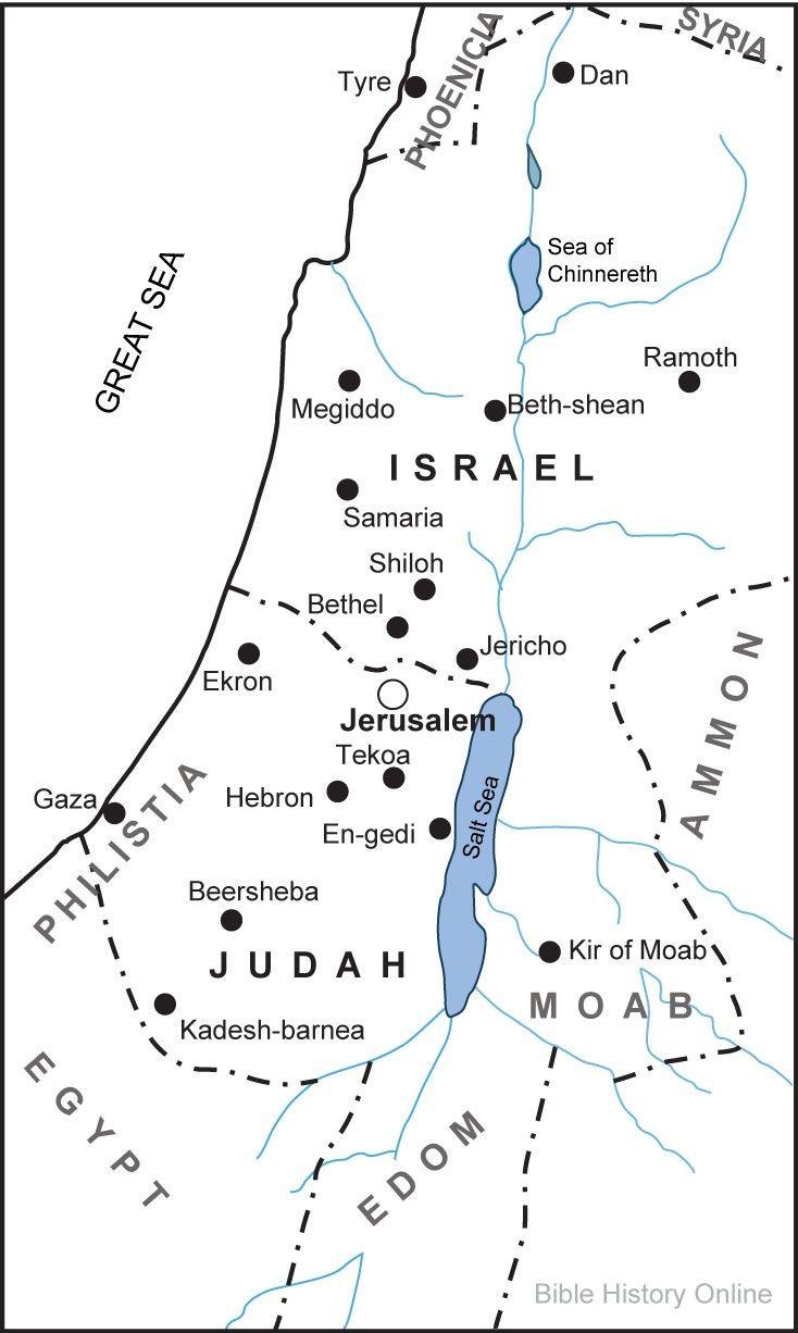 Biblical Map Of Israel | Flygaytube - Printable Bible Maps
