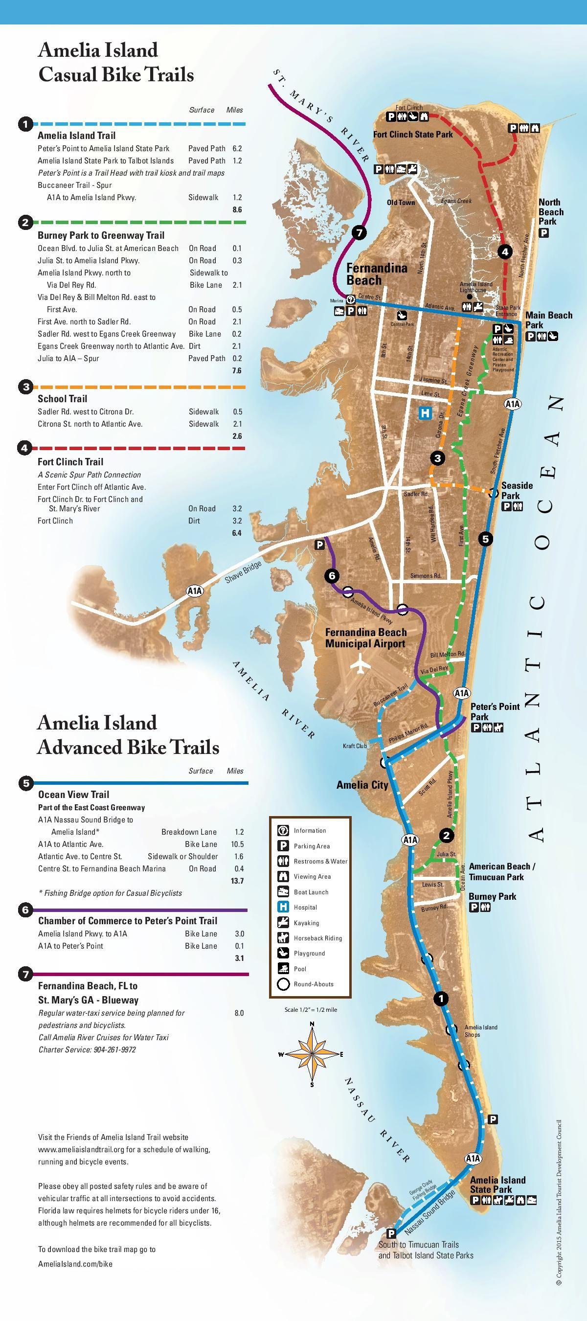 Bicycling On Amelia Island - Amelia Island, Florida   Travel - Amelia Island Florida Map