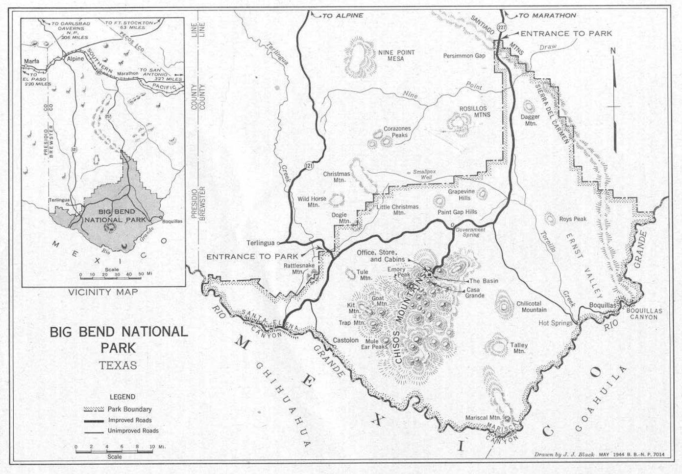 Big Bend National Park - Big Bend National Park Map Texas